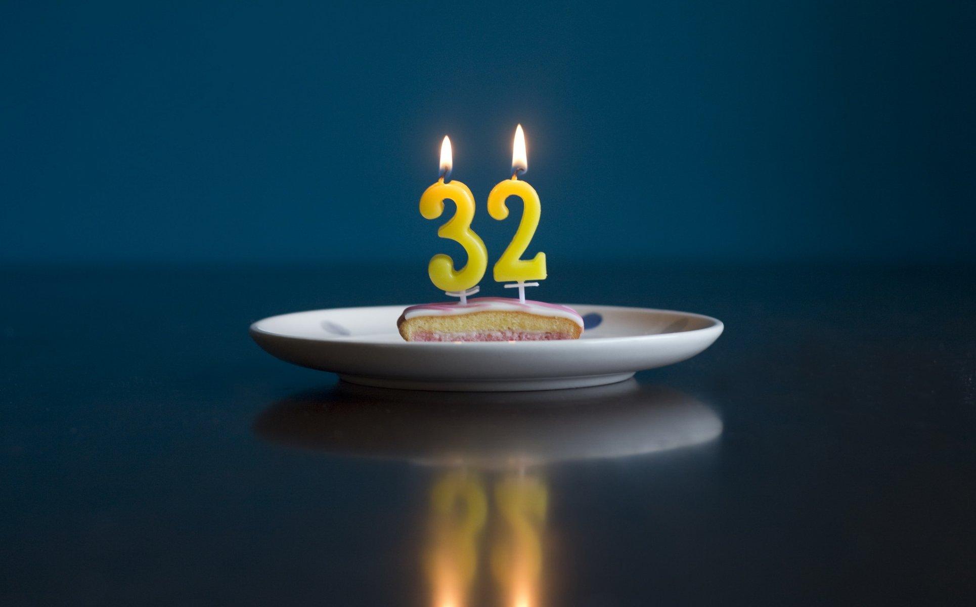 Поздравления на день 32 летия