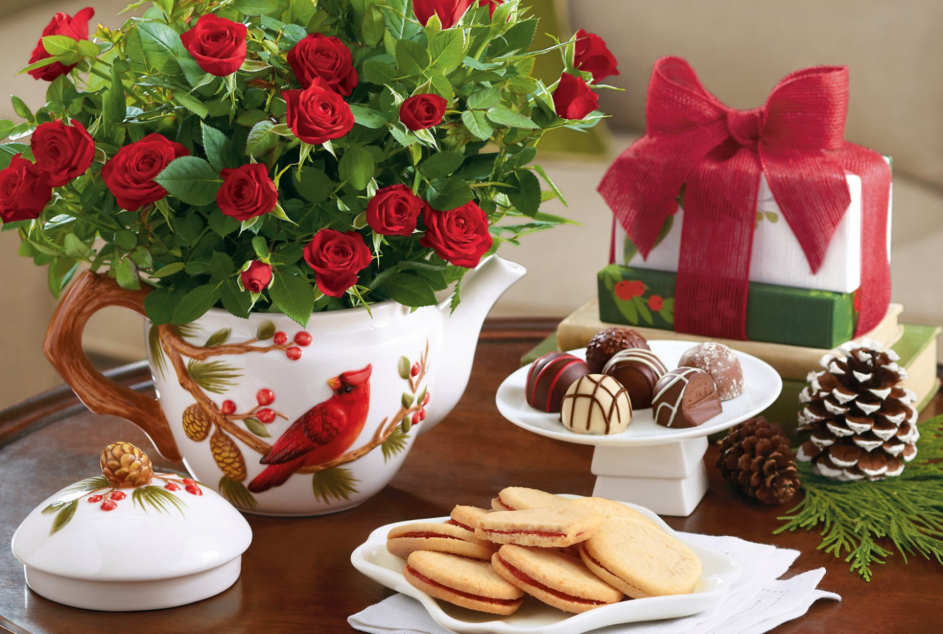 Красивые открытки со сладостями с пожеланиями доброго утра и хорошего дня