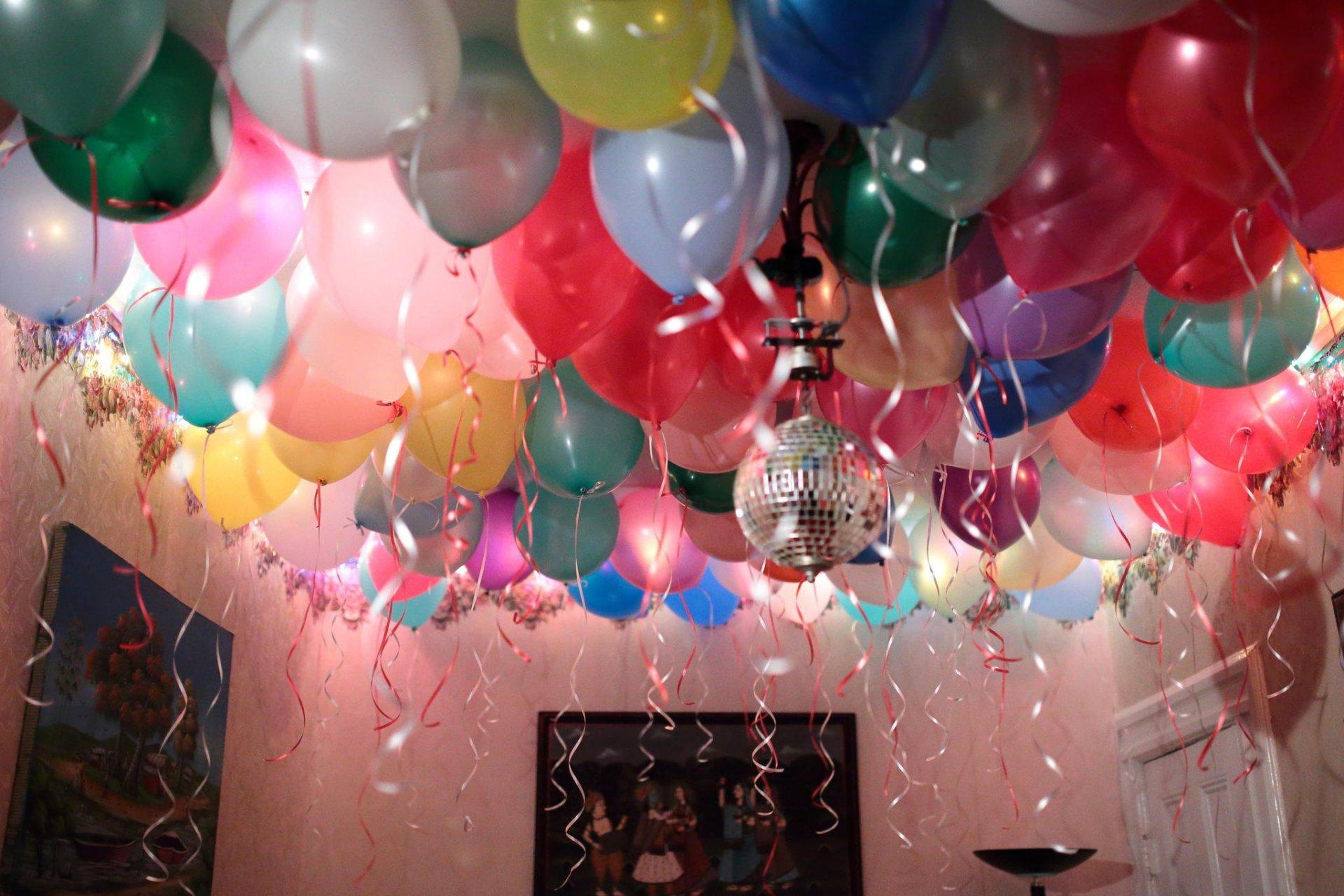 Открытки картинка, шарики на день рождения фото