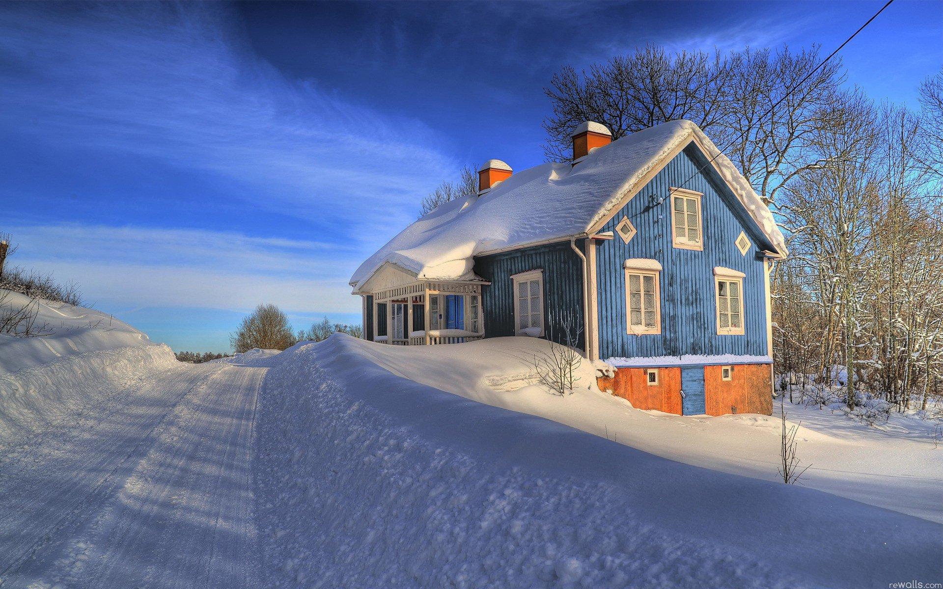 дома снег если загрузить