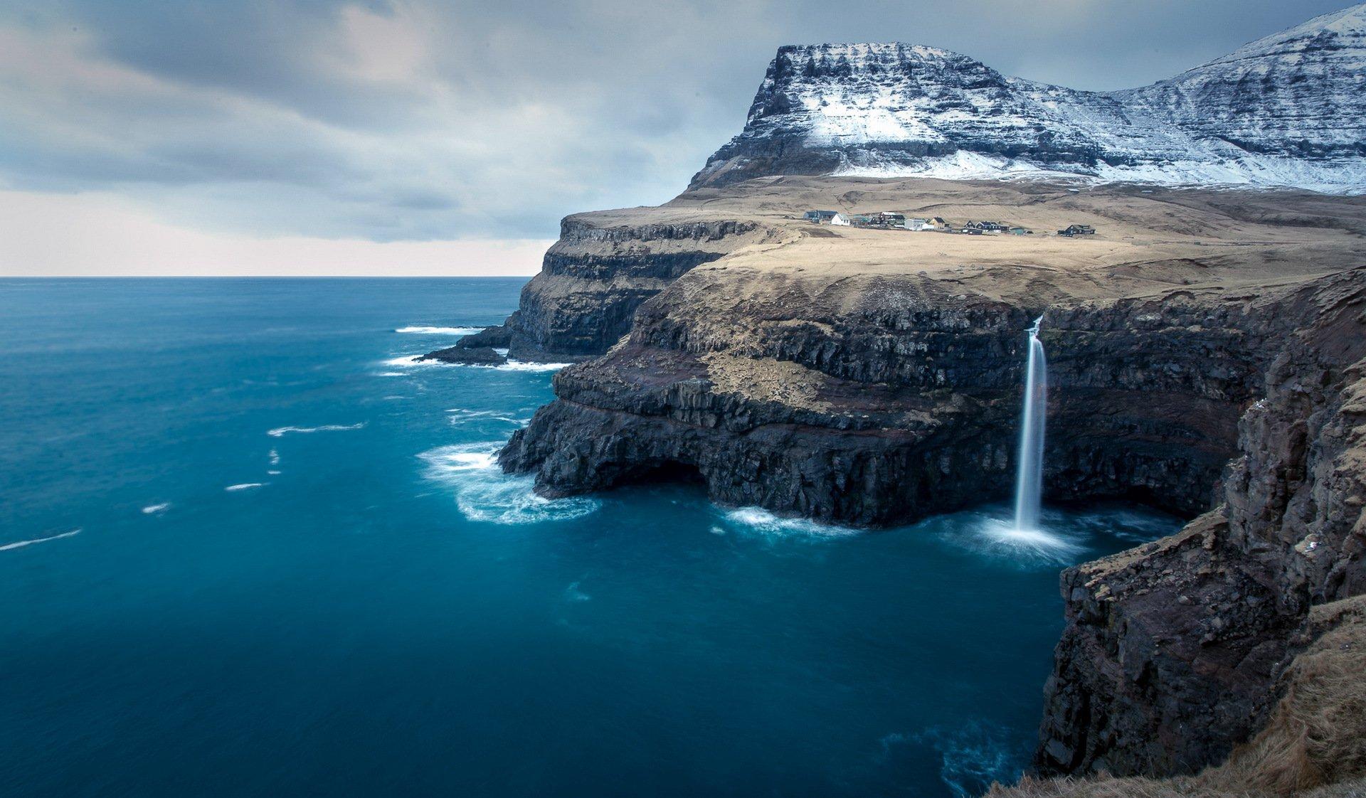 природа море горы скалы дома nature sea mountains rock home  № 425212  скачать