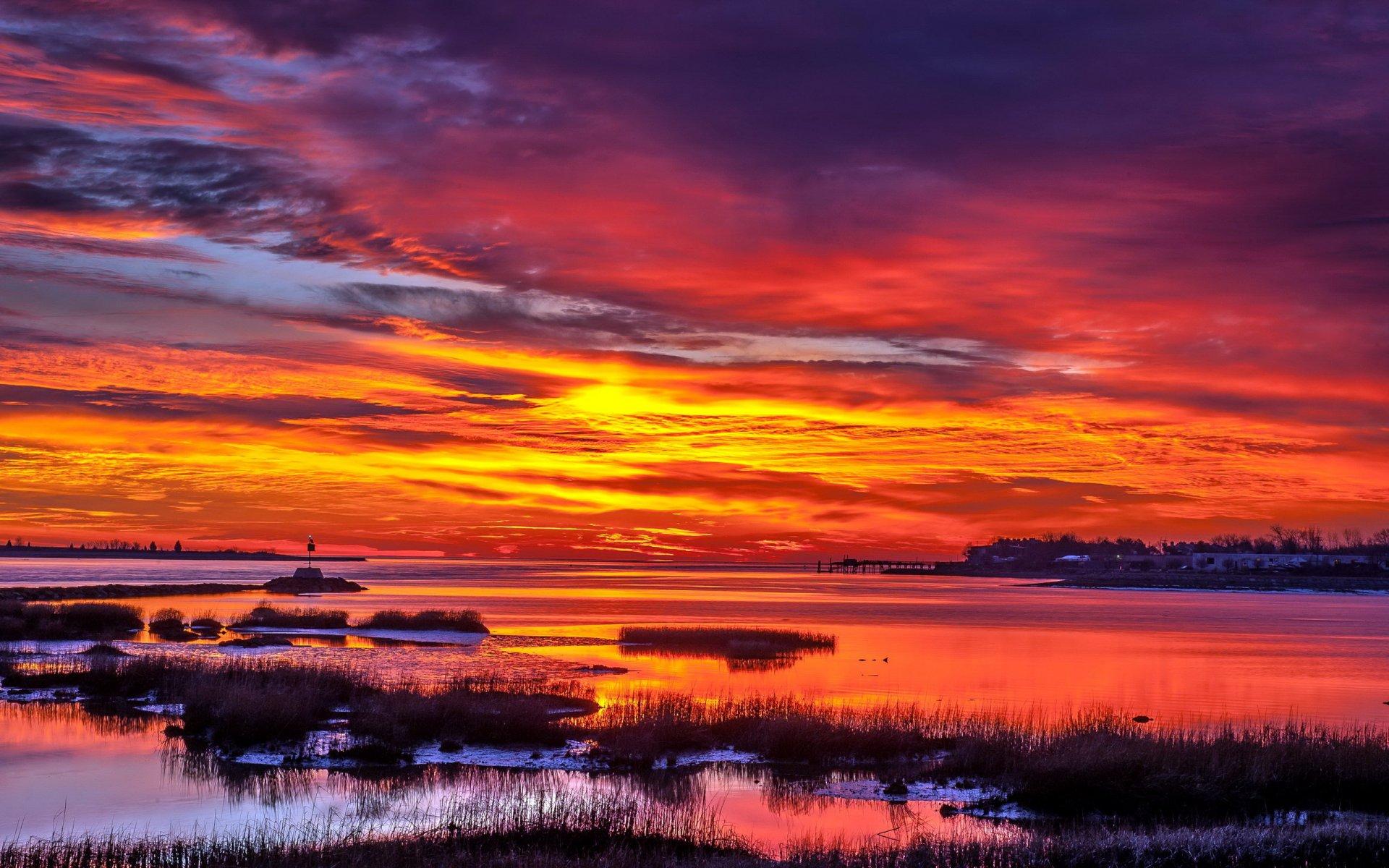 самые красивые рассветы и закаты фото