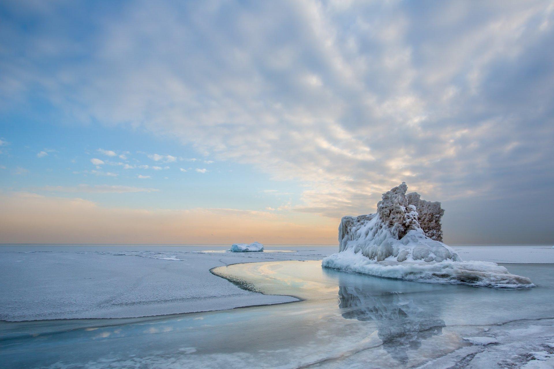 обои море зимой для рабочего стола № 632294 загрузить