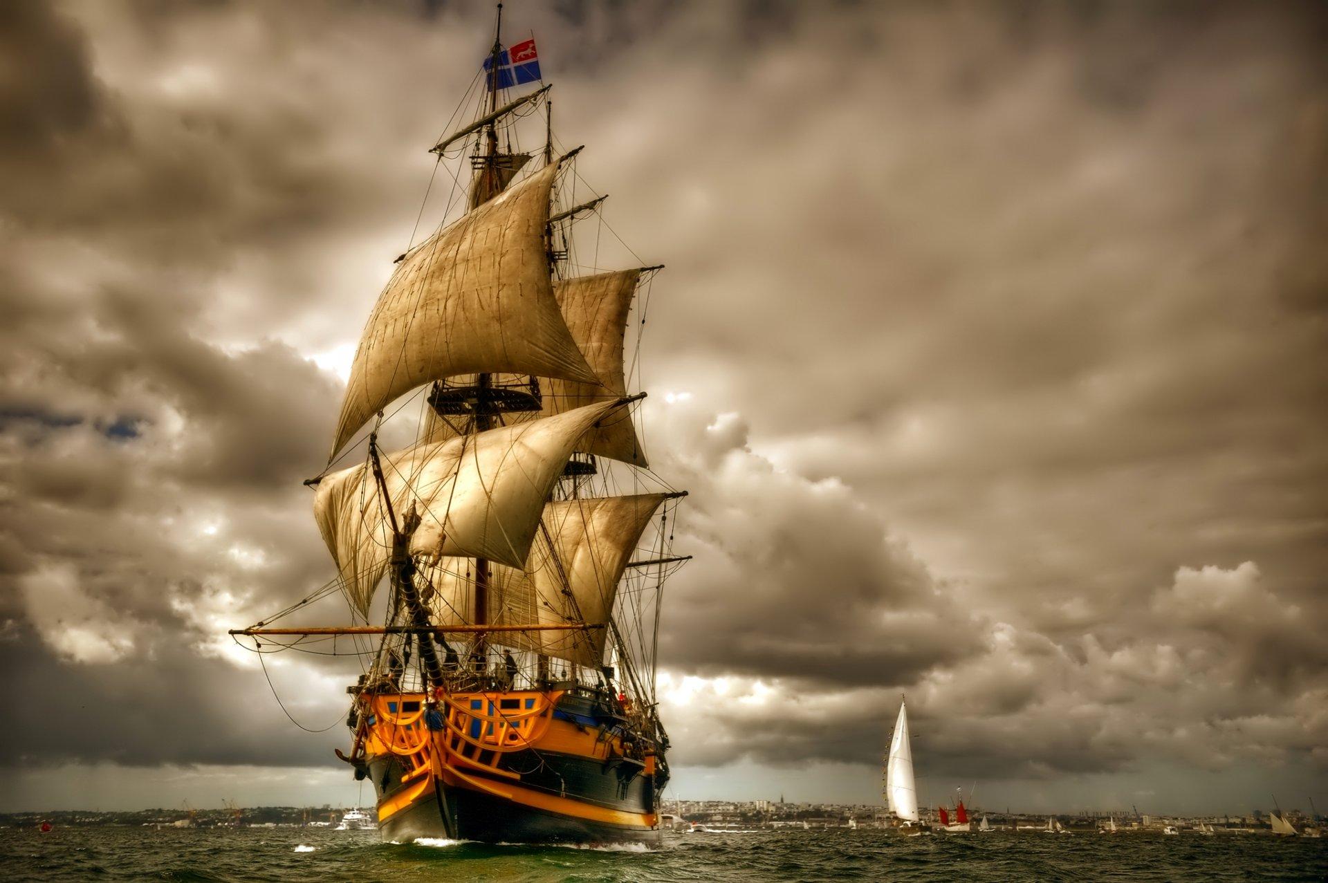 Корабли на открытках фото