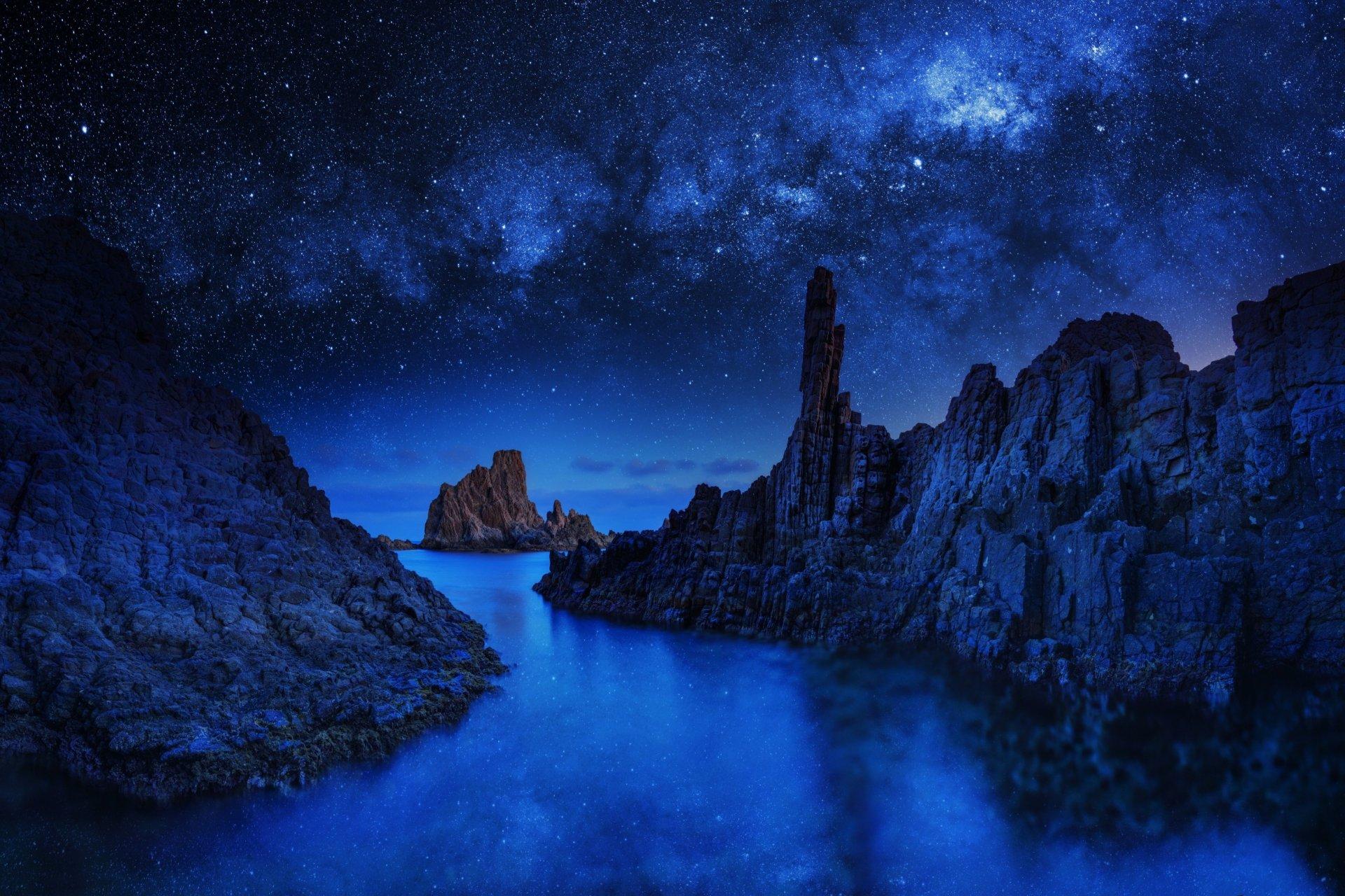 картинки синяя ночь разновидность изобразительного