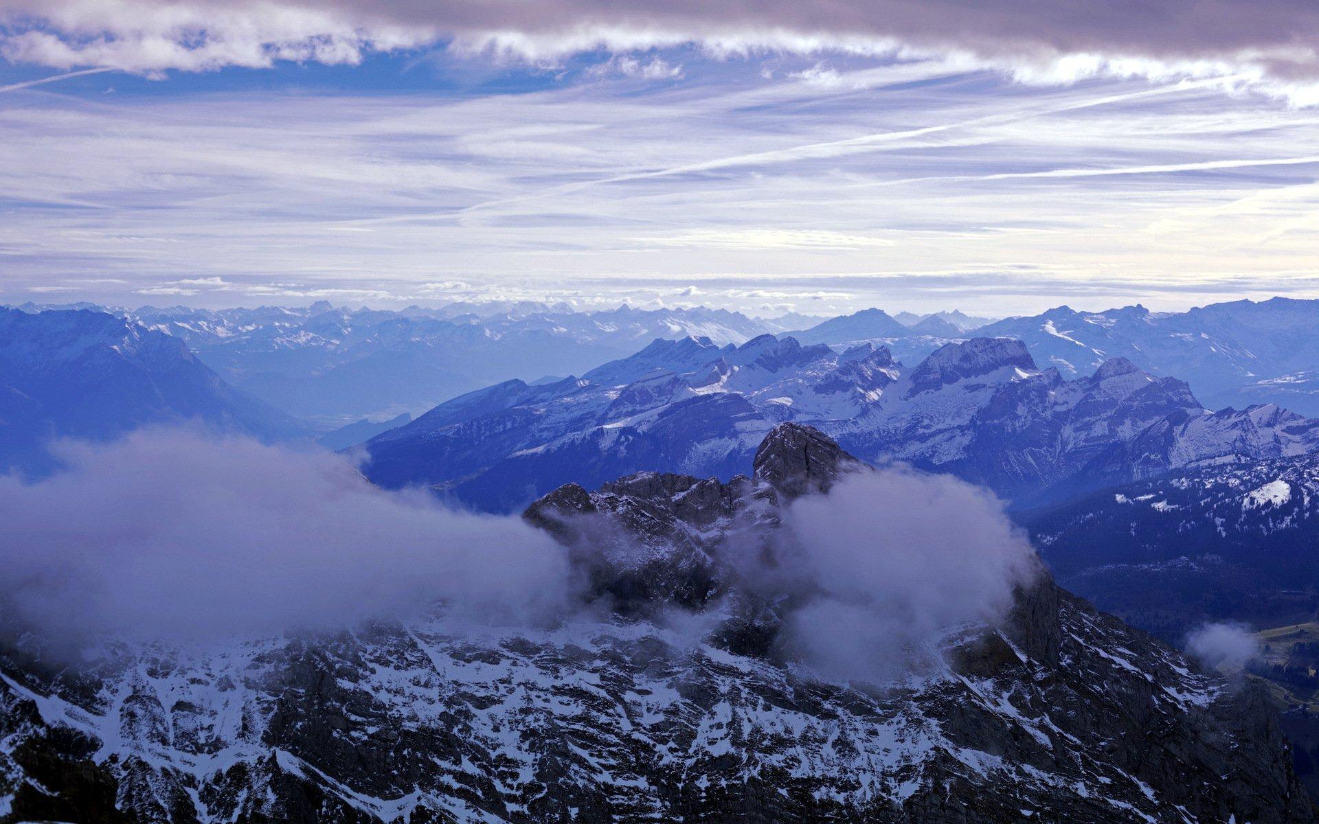 Небо горы блики бесплатно