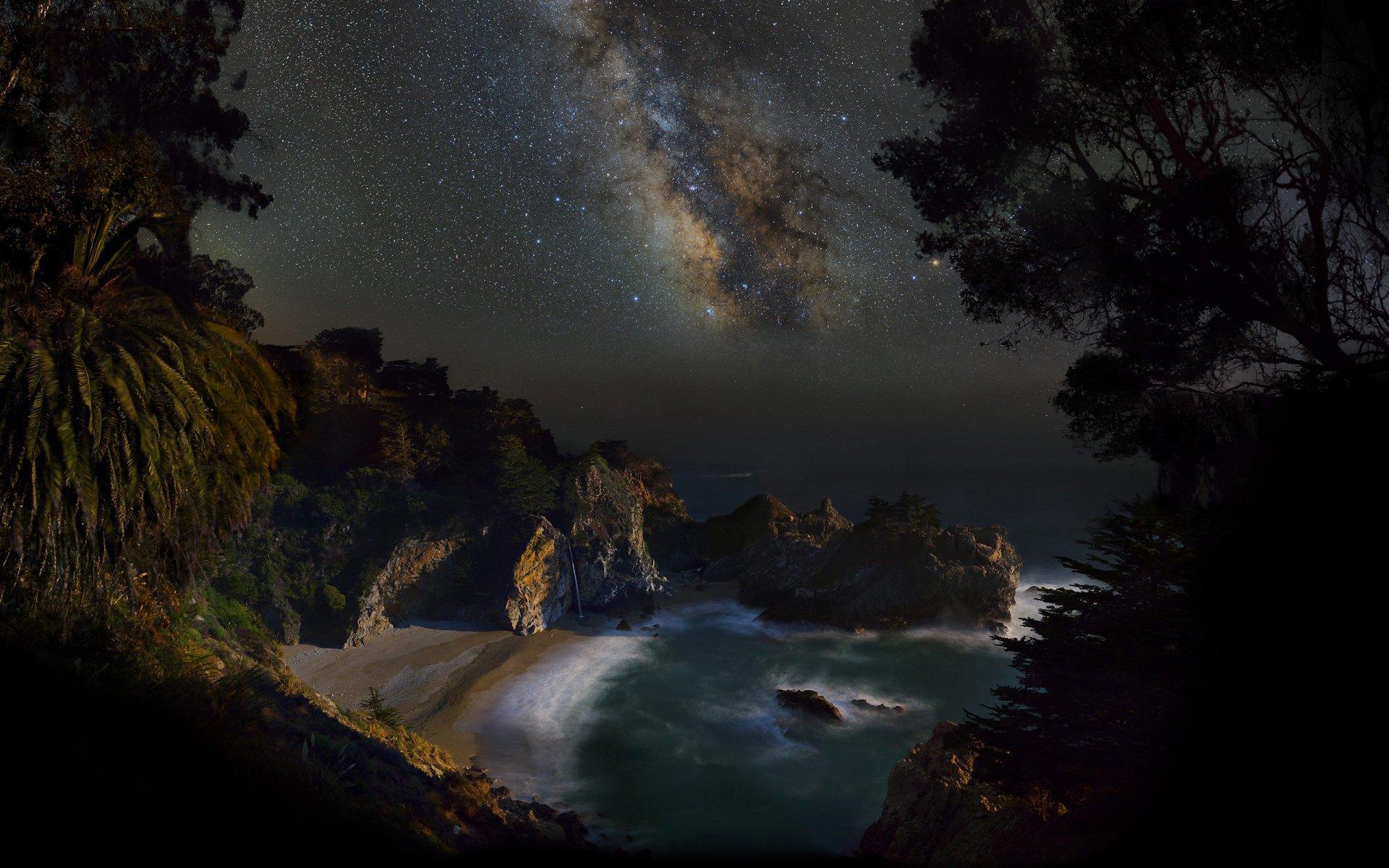 чтобы картинки ночь на побережье это черный