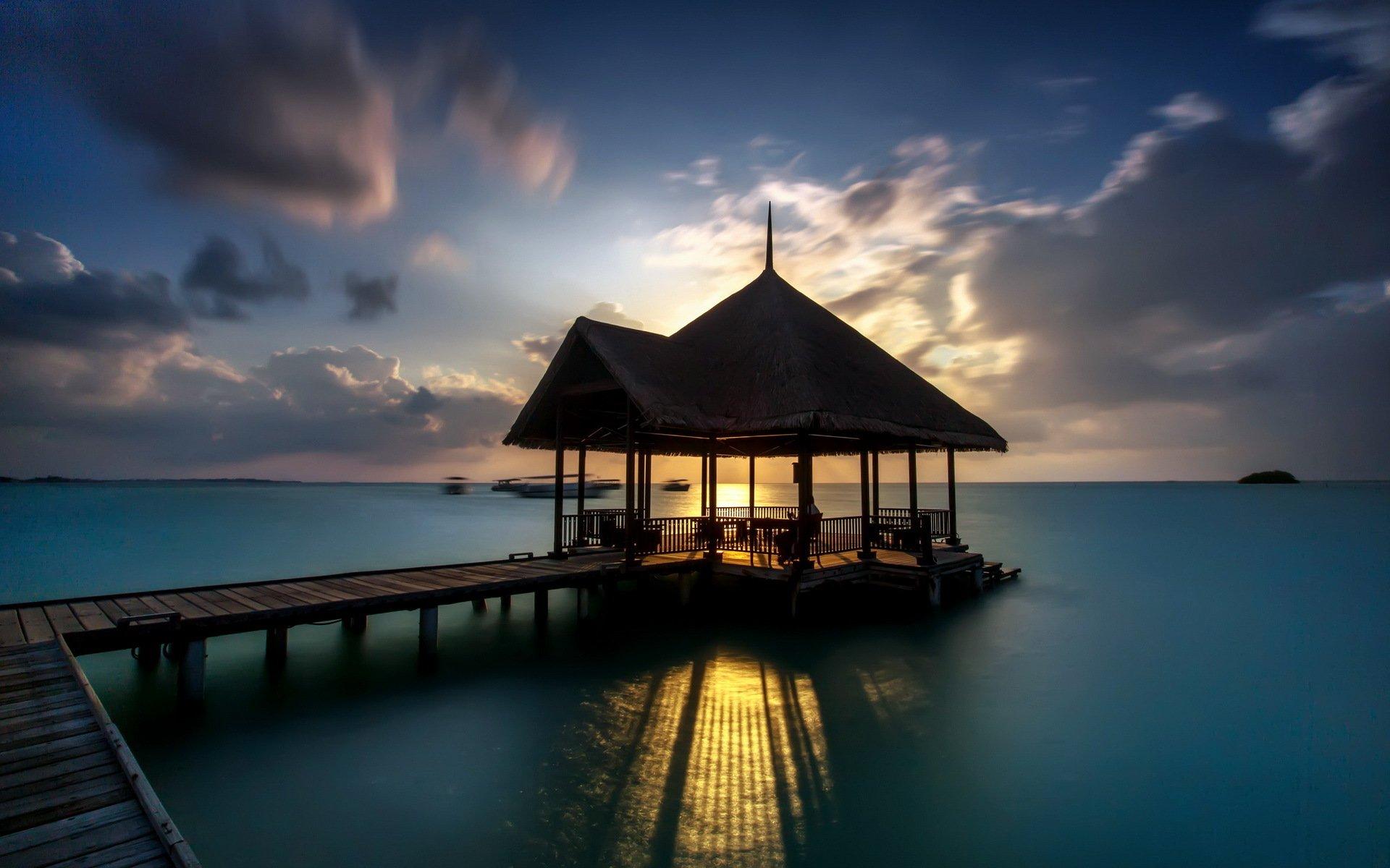 пирс море небо курорт  № 1238010  скачать