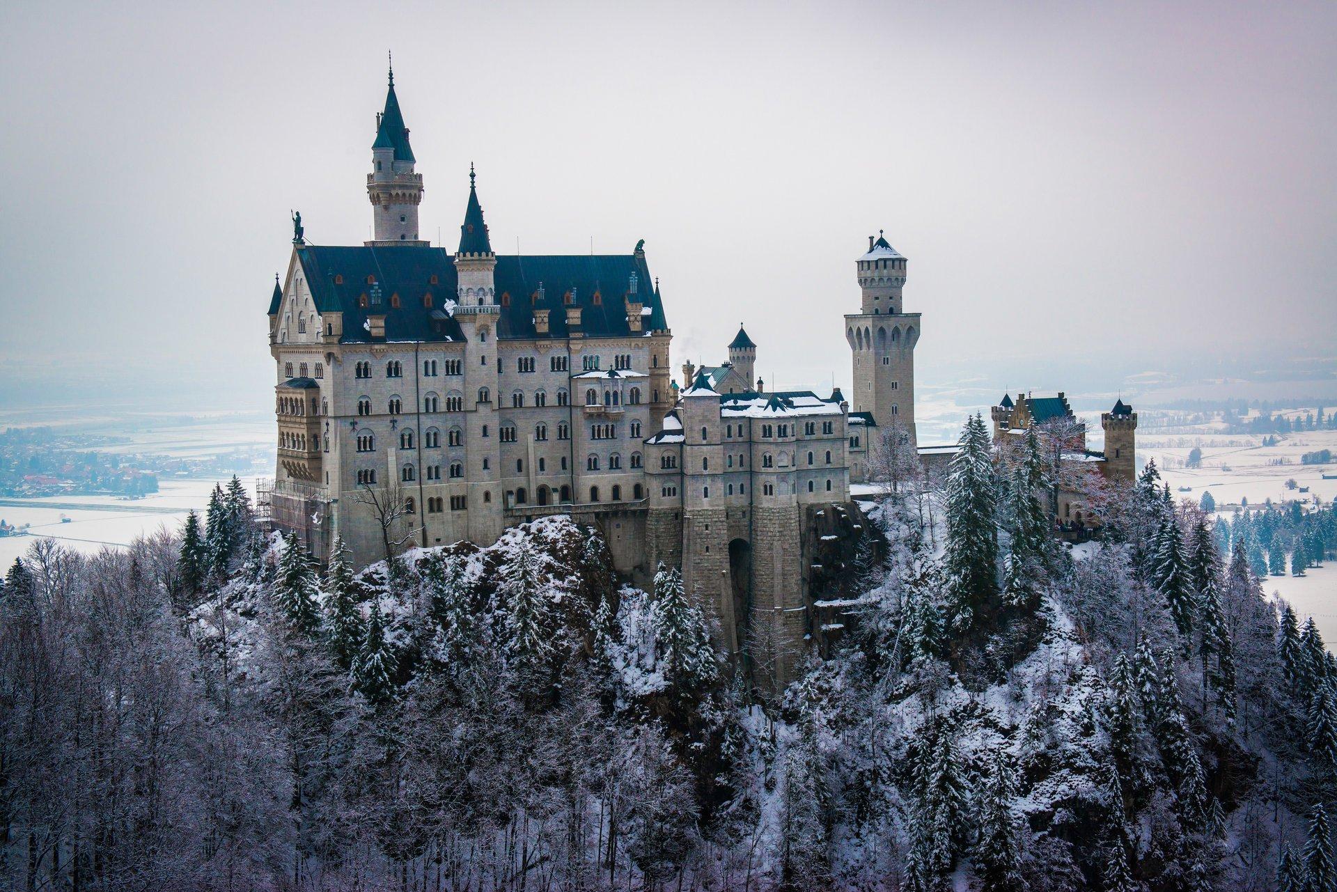 зимний замок обои на рабочий стол № 510479 бесплатно