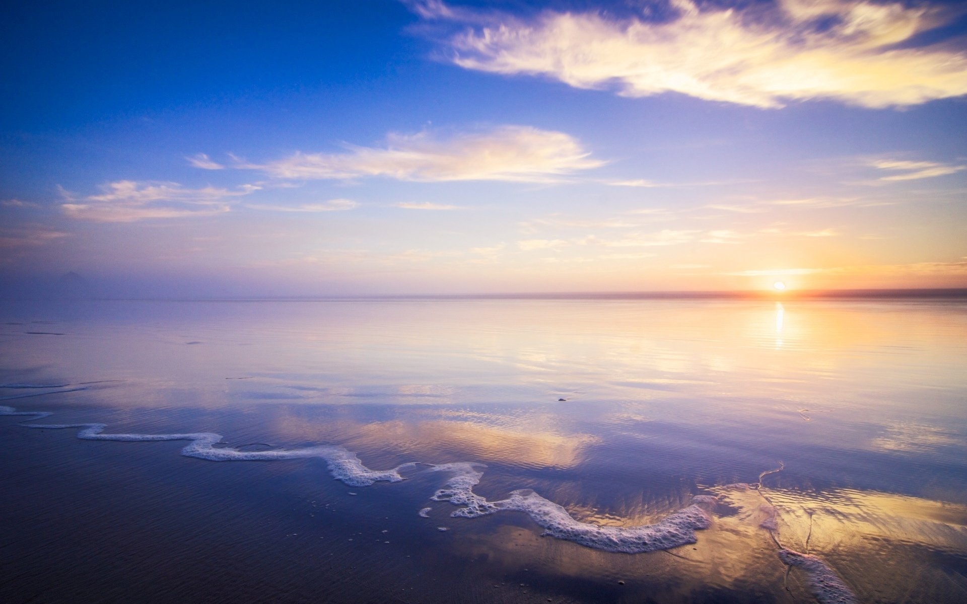 пейзаж п�и�ода мо�е �ека вода океан �олн�е �он обои