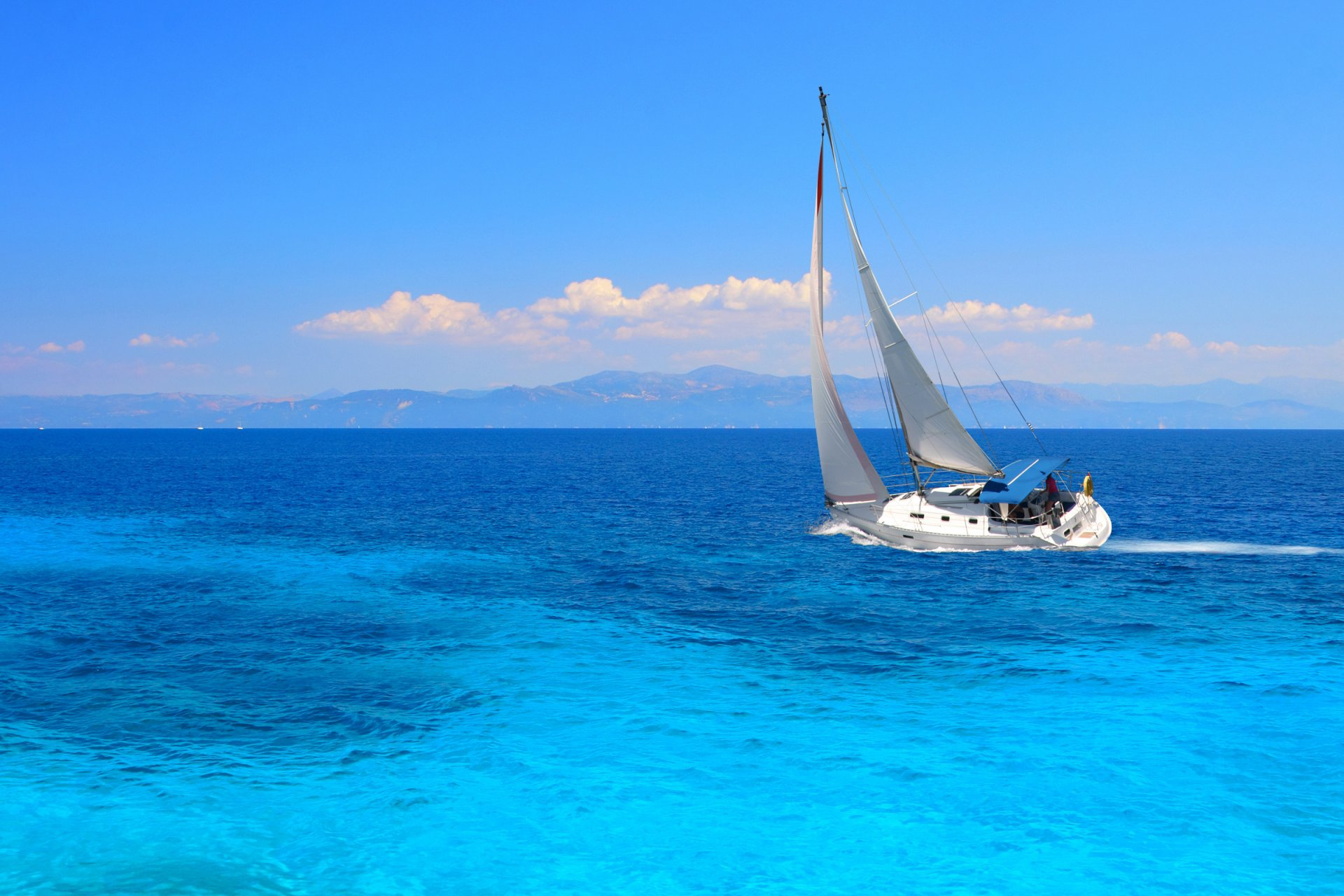 Картинки с яхтой на море