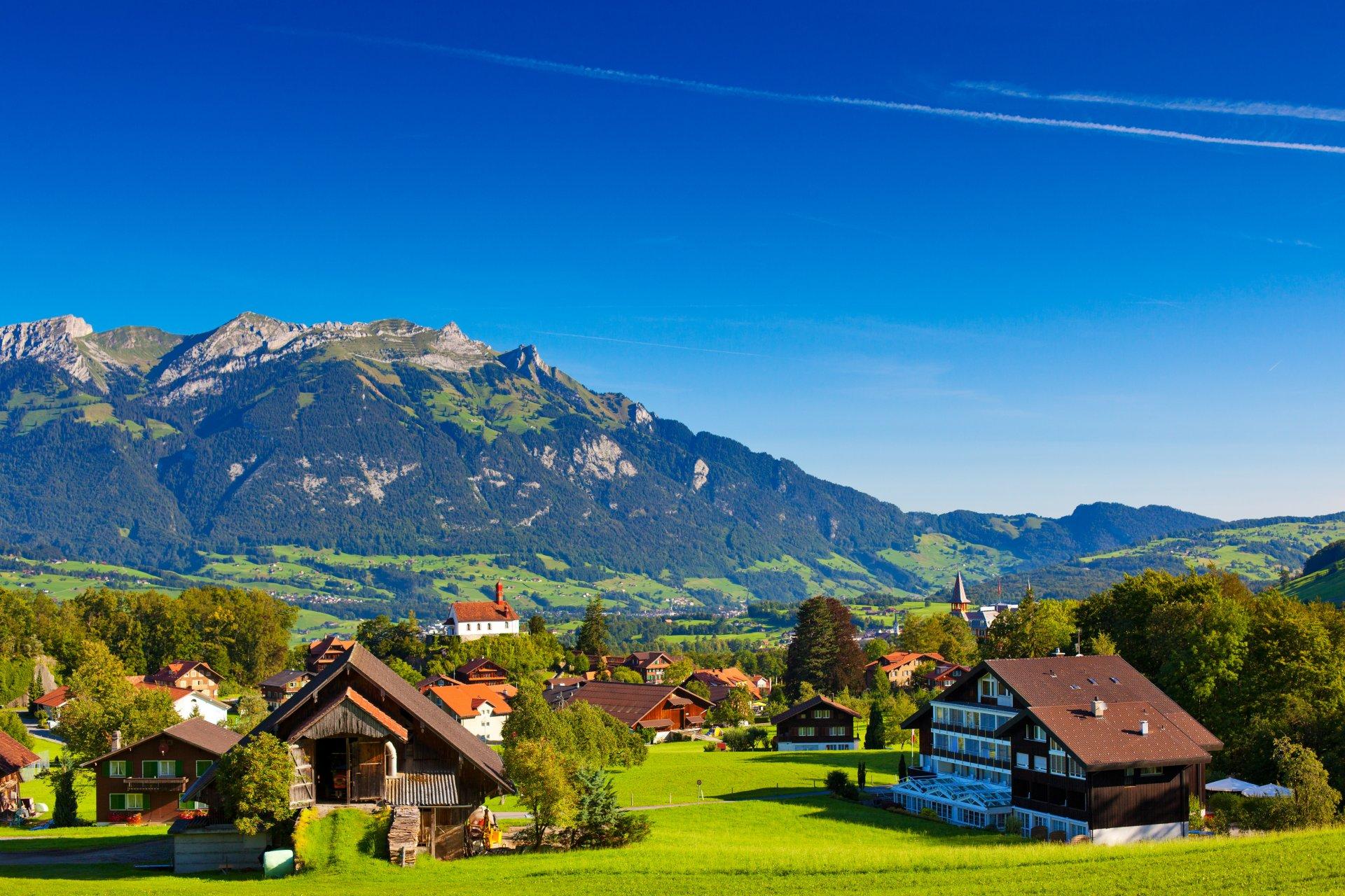 Обои дома, швейцария. Пейзажи foto 9