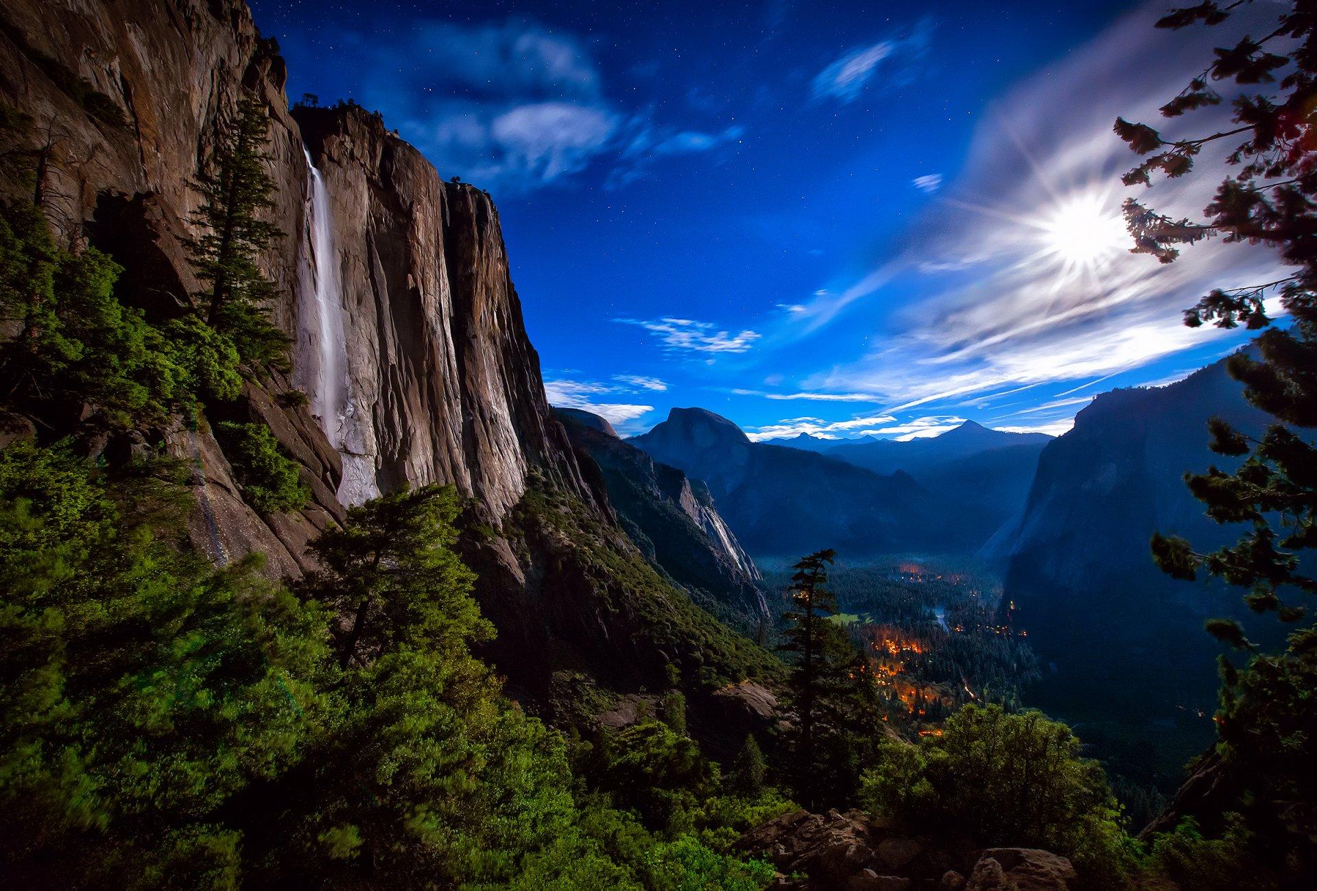 Водопад горы небо  № 5335 бесплатно