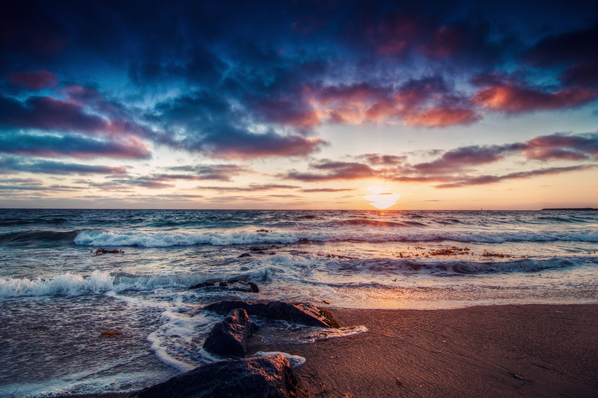 Море закат волна  № 3891491 без смс