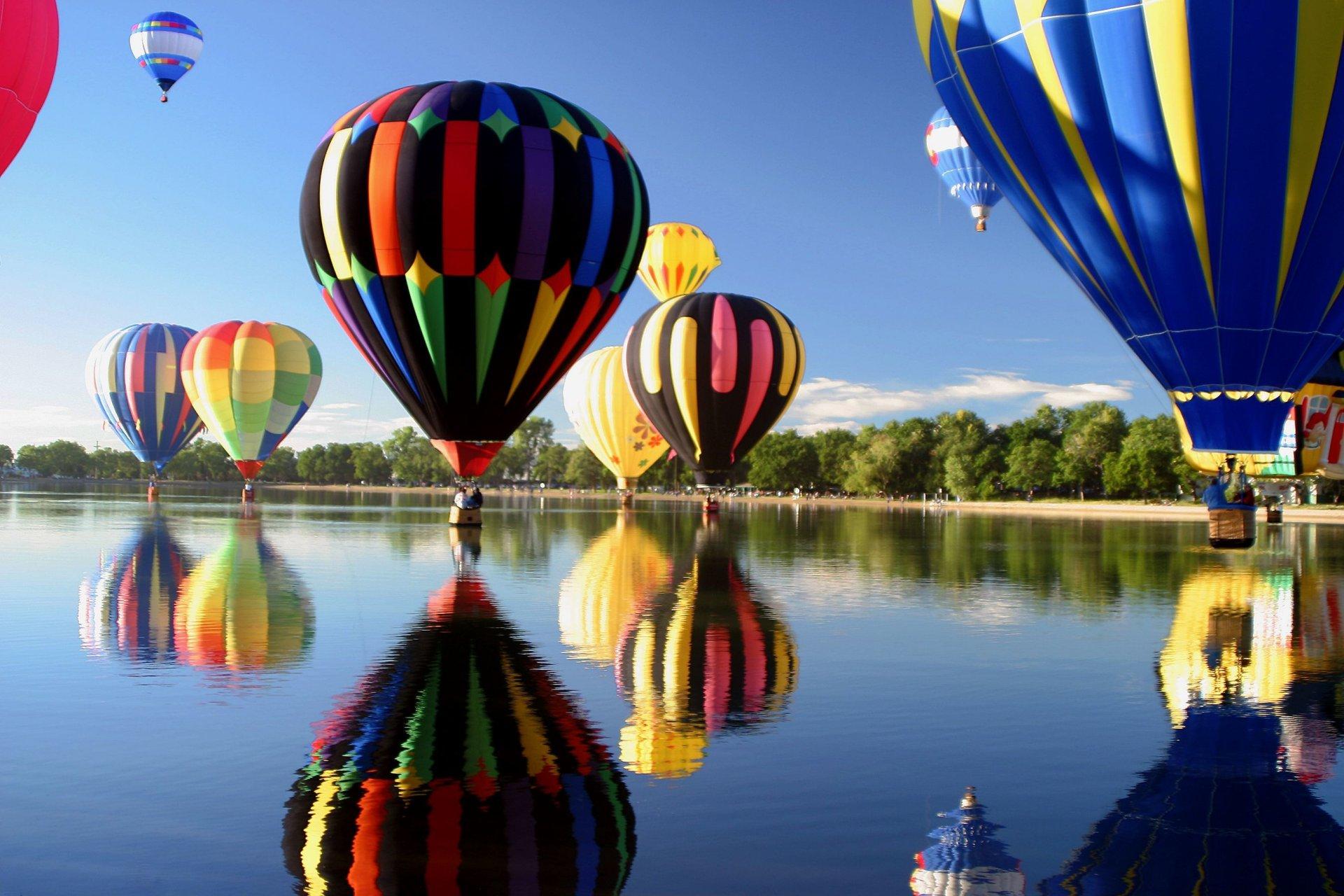 Обои воздушные шары, Облака, аэростаты, Монгольфьеры. Авиация foto 18