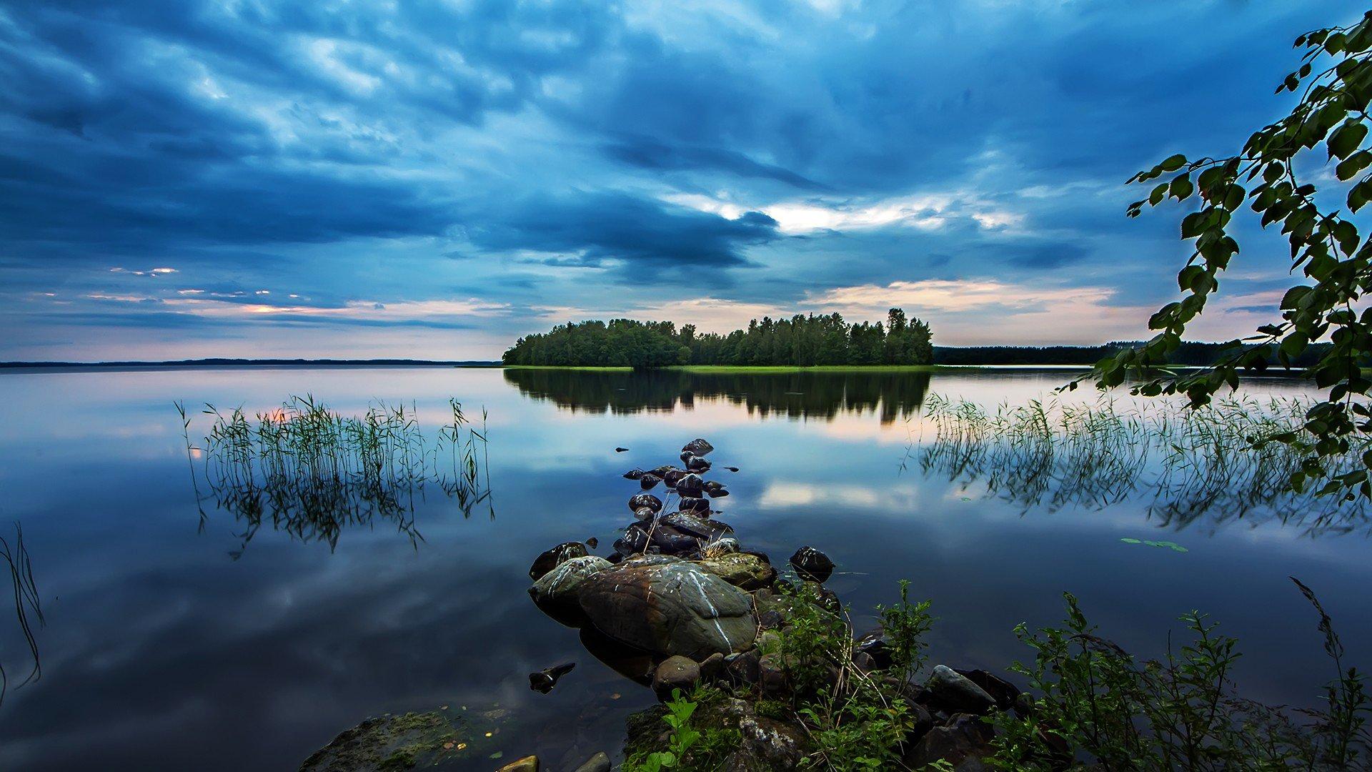 Озеро с островком скачать