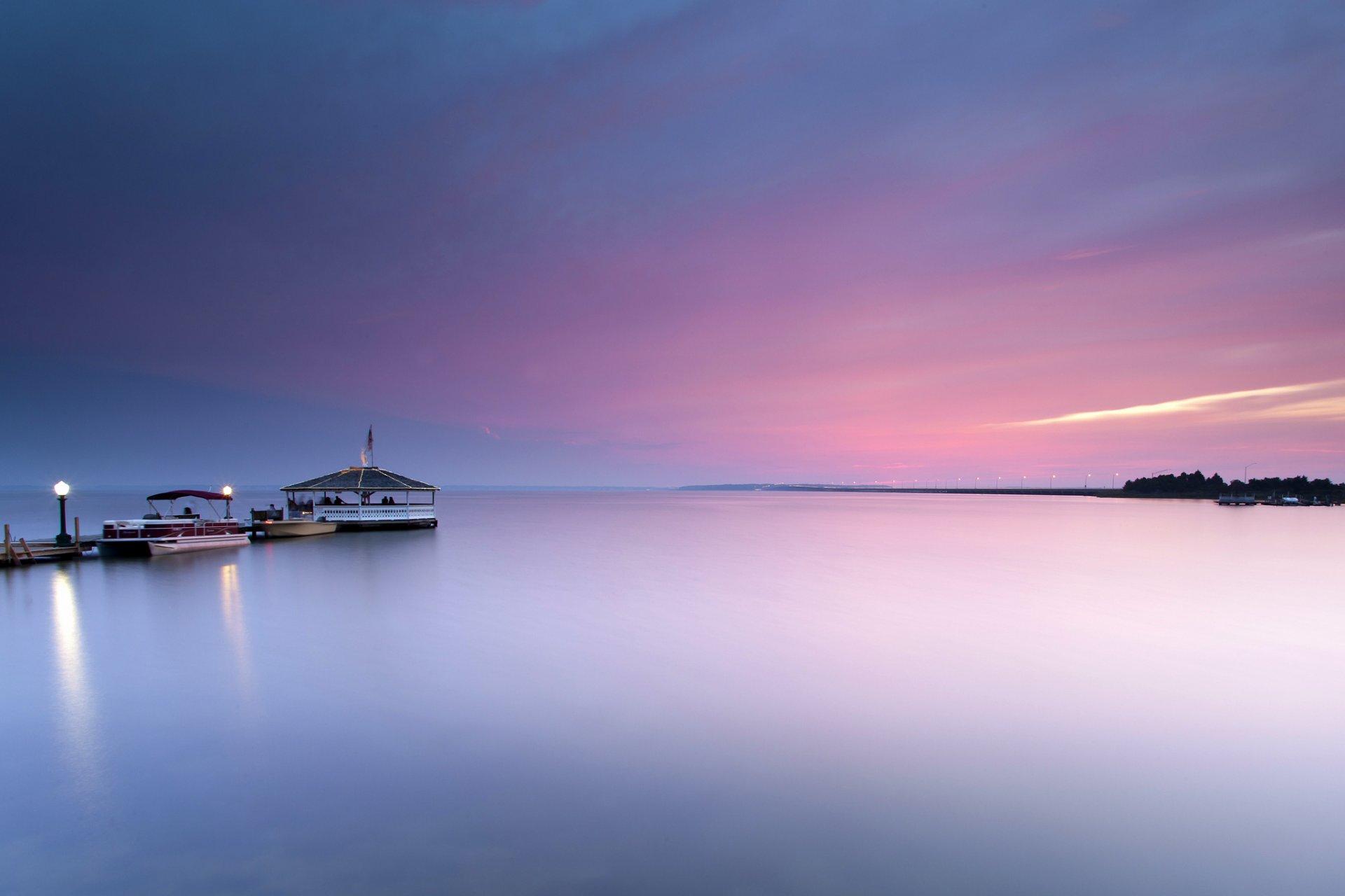 причал фонари берег море pier lights shore sea  № 2555067 загрузить