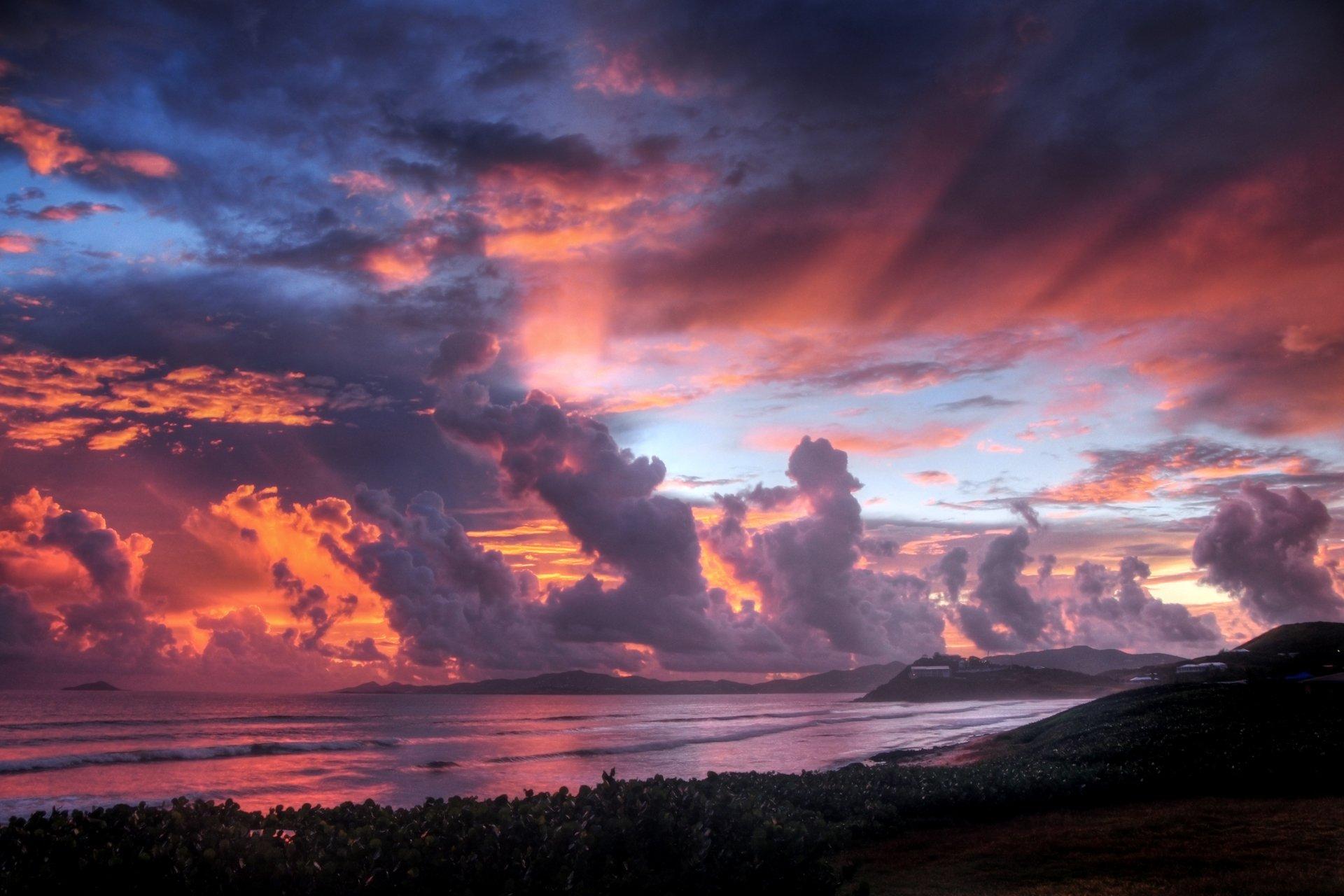Красивое небо картинки закат