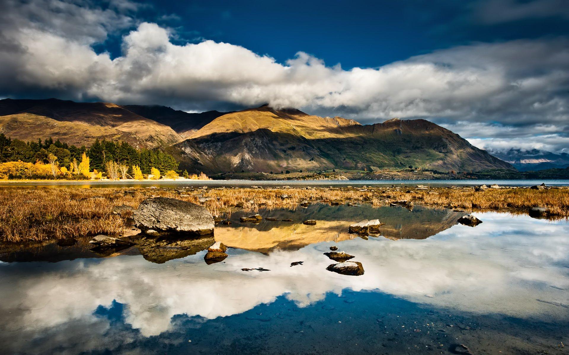 Горы небо озеро камни бесплатно
