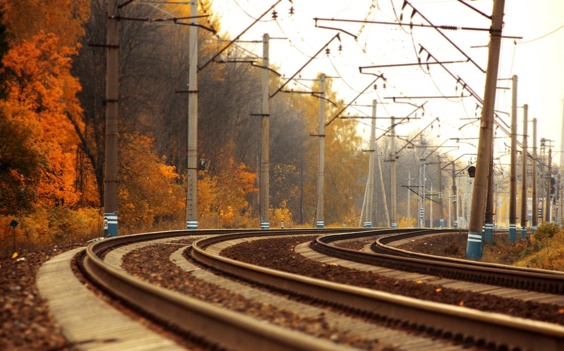 Обои поезд, небо, Пейзаж. Разное foto 8