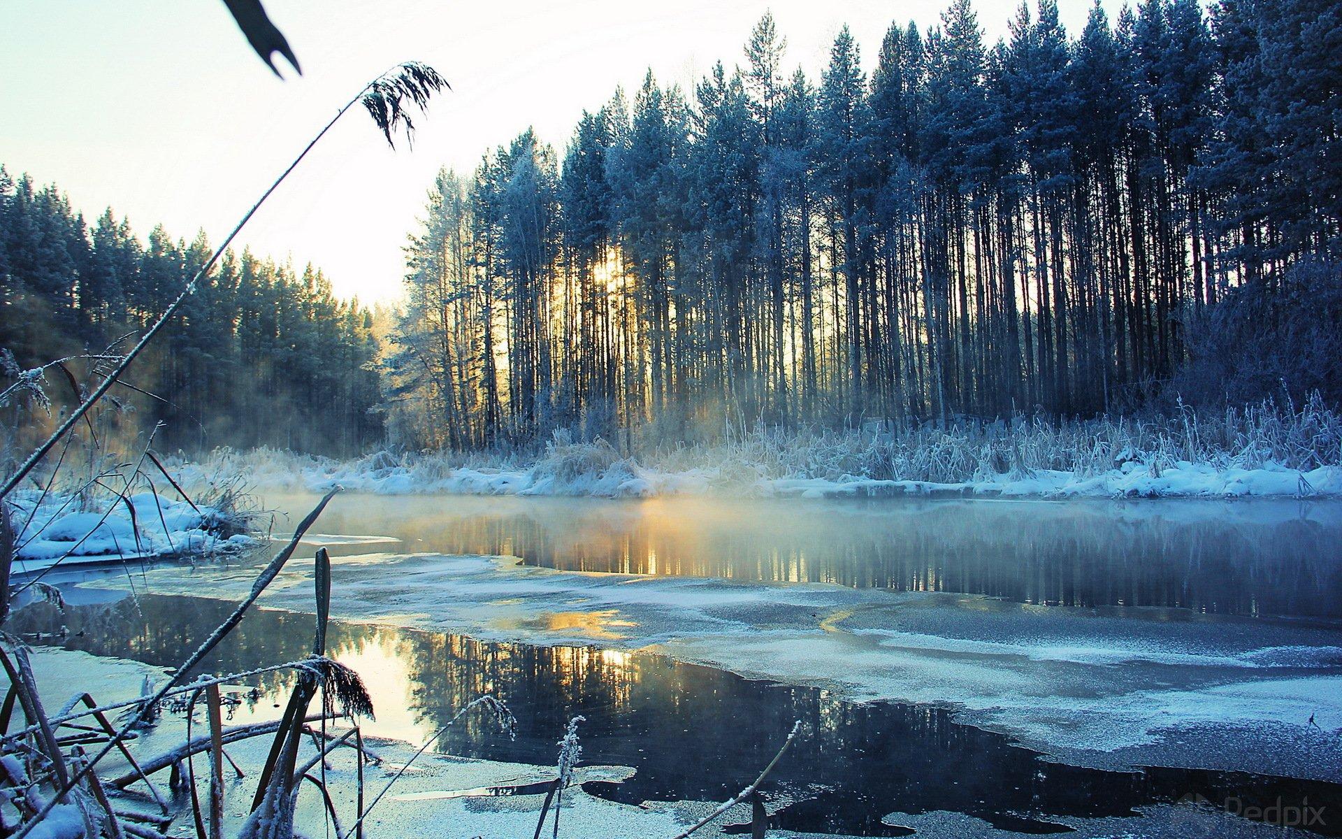 речка мороз зима the river frost winter  № 456382 бесплатно