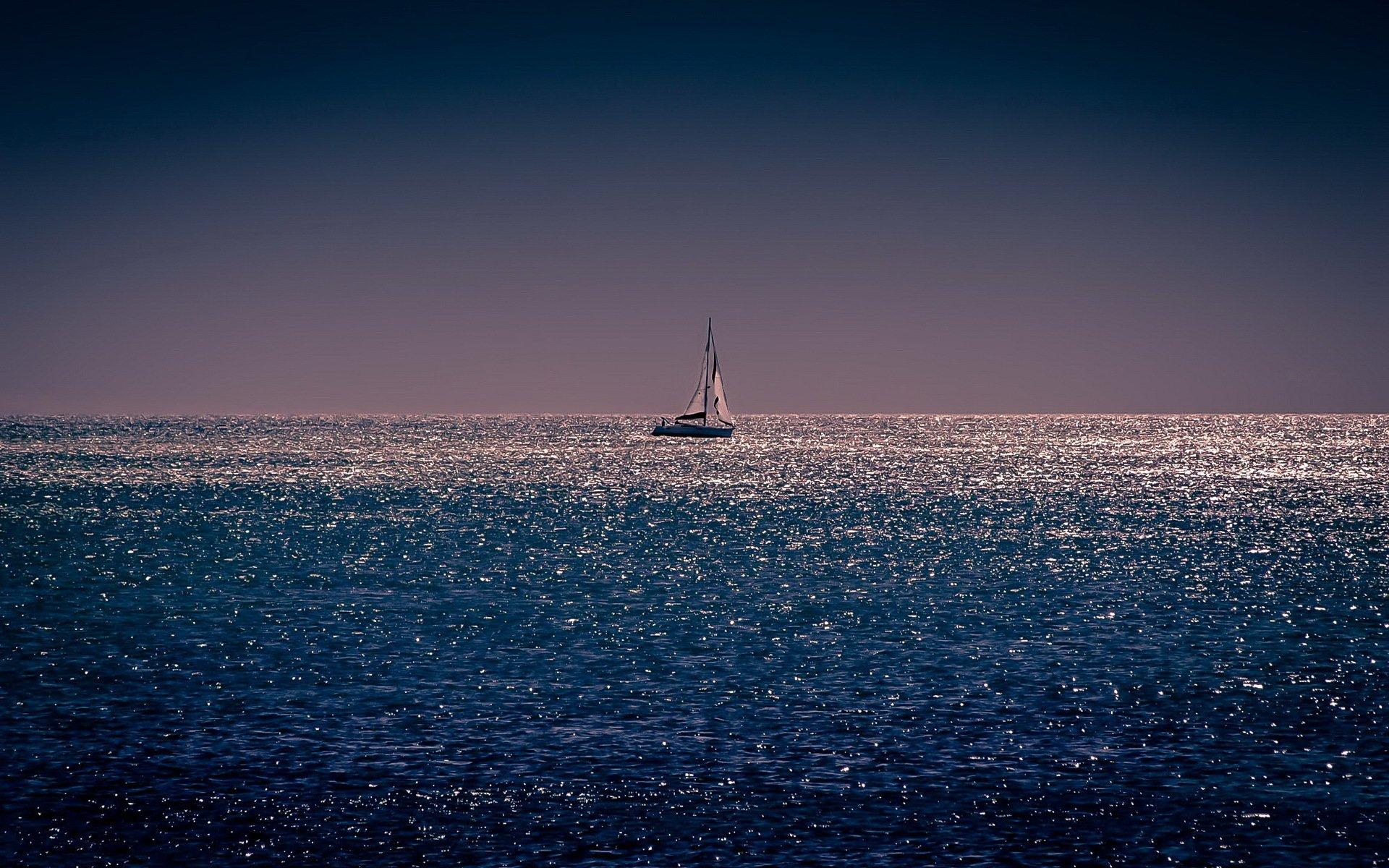 Обои рисунок, Вода, лодки, ночь, свет. Разное foto 17
