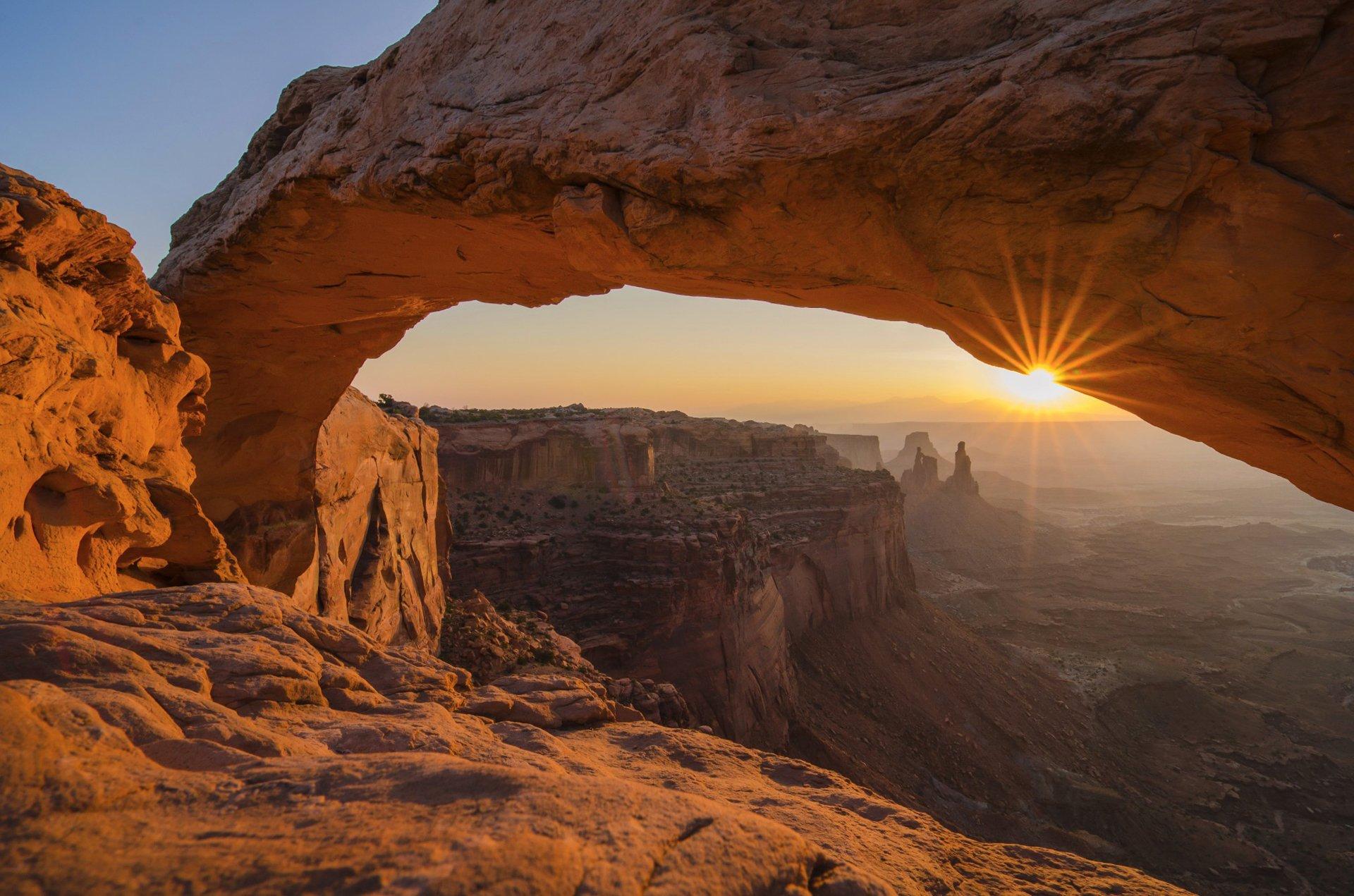 лучи арка гора скала бесплатно