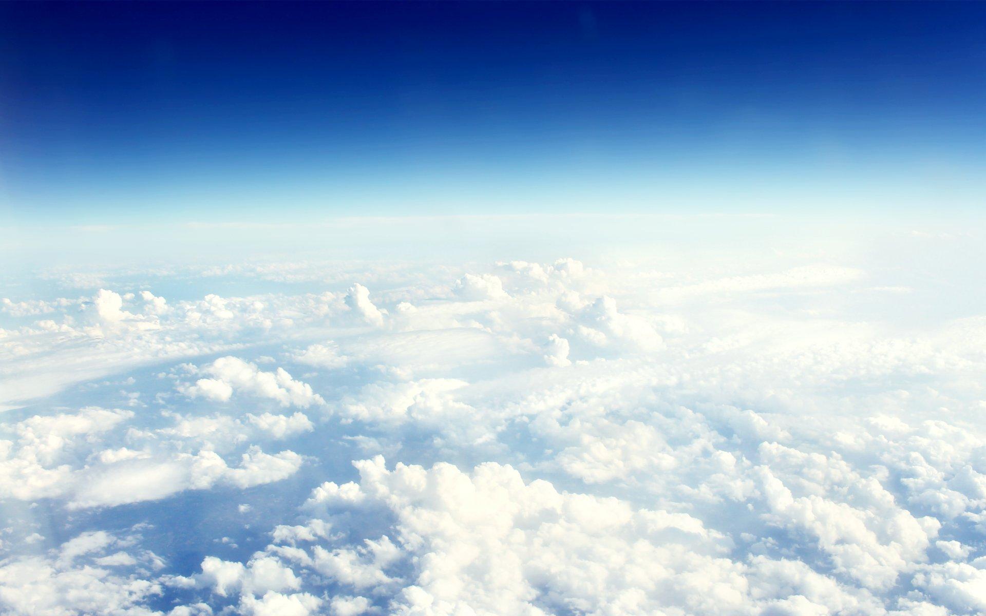 Обои Облака, красиво, ночь, высота. Авиация foto 9