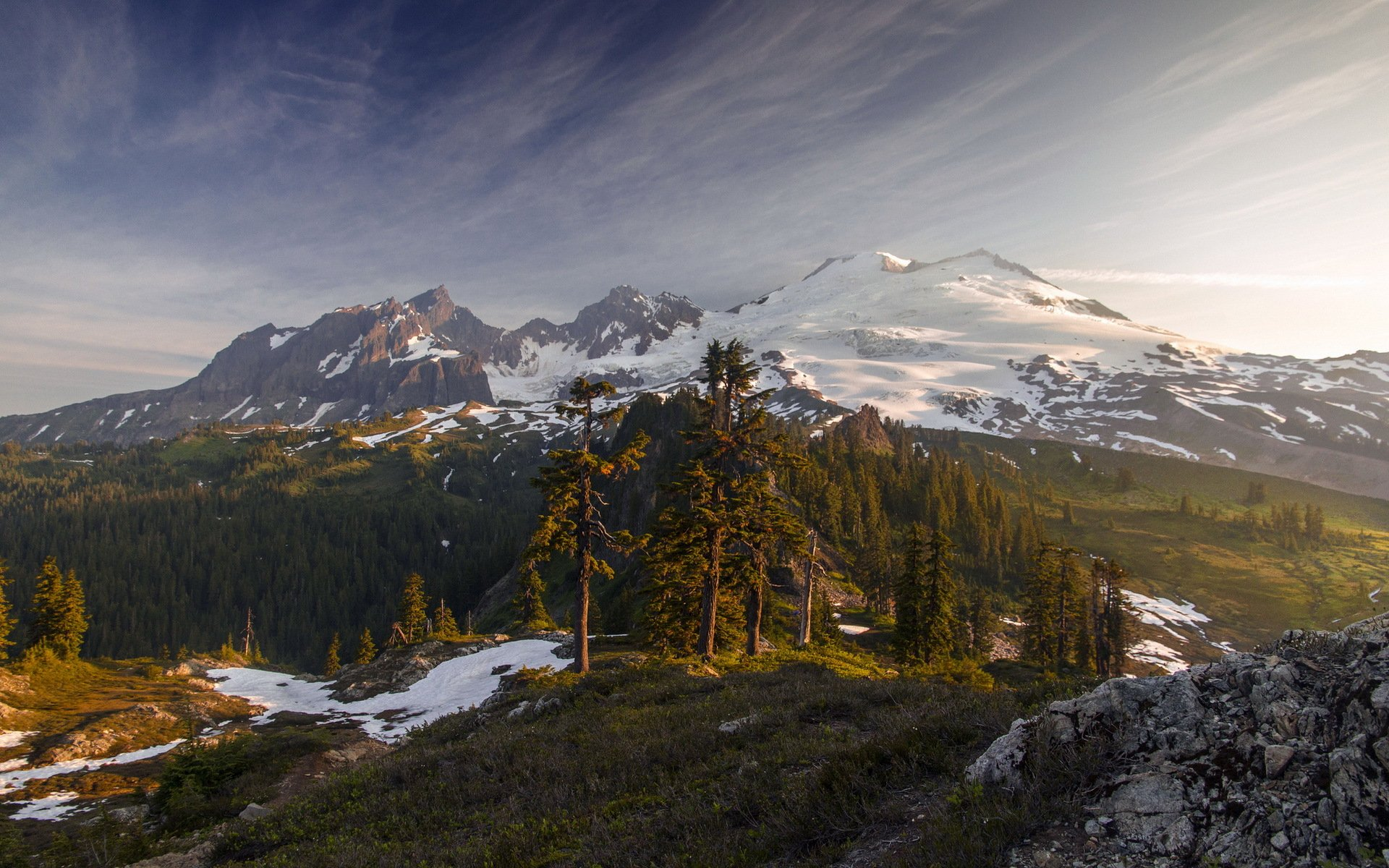 Mount Baker From Yellow Aster Butte, Washington загрузить