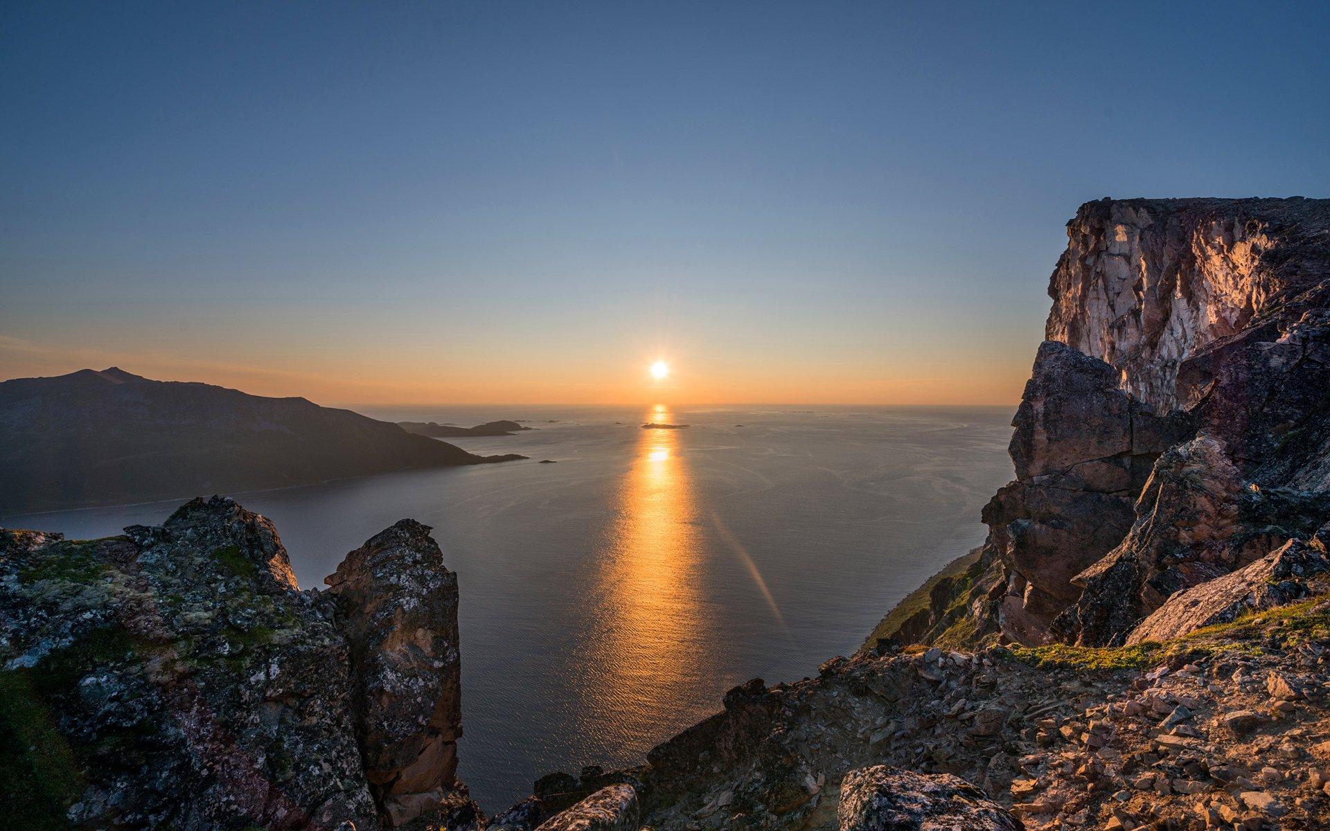 закат море горы скалы  № 1291220 бесплатно