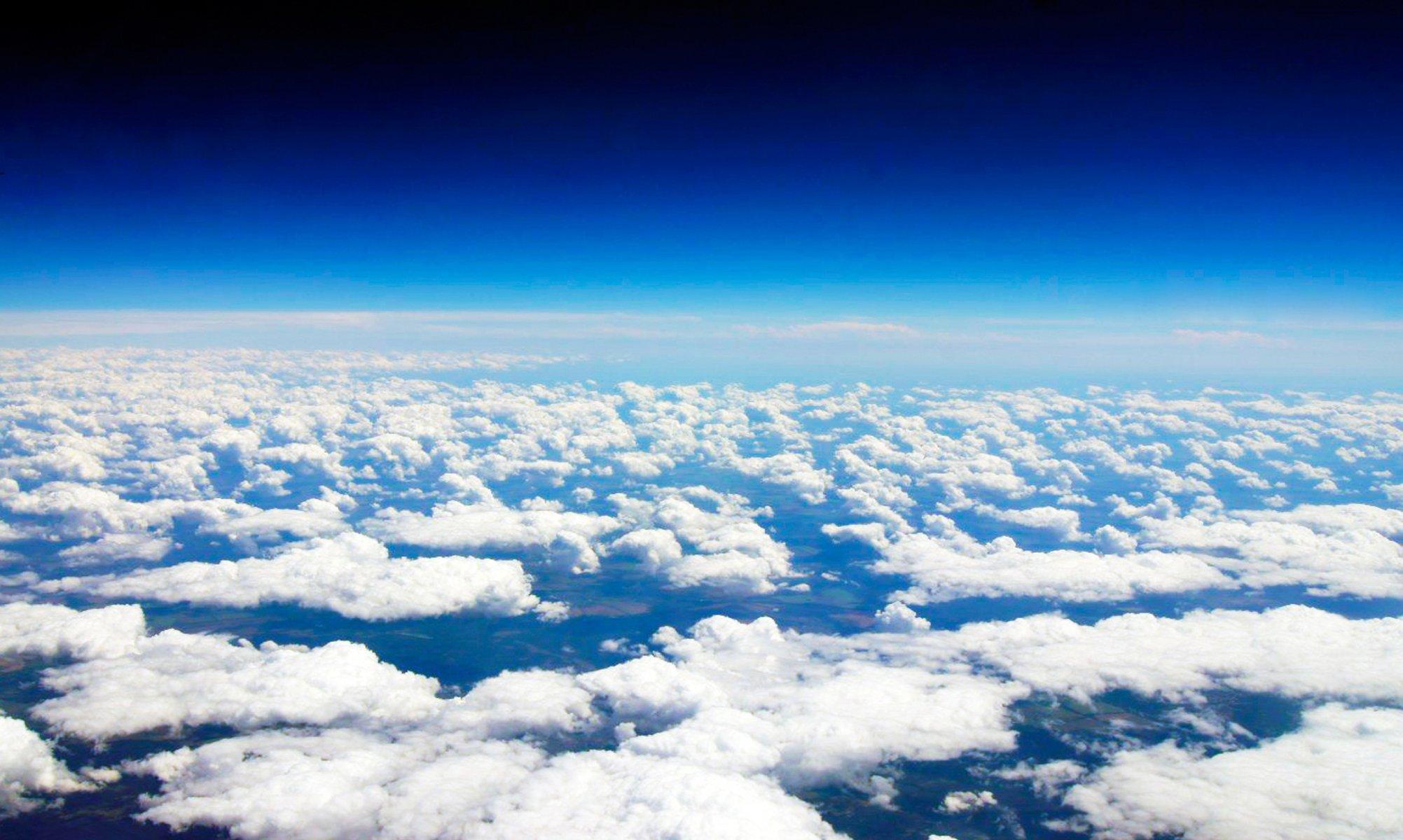 Обои Облака, красиво, ночь, высота. Авиация foto 7