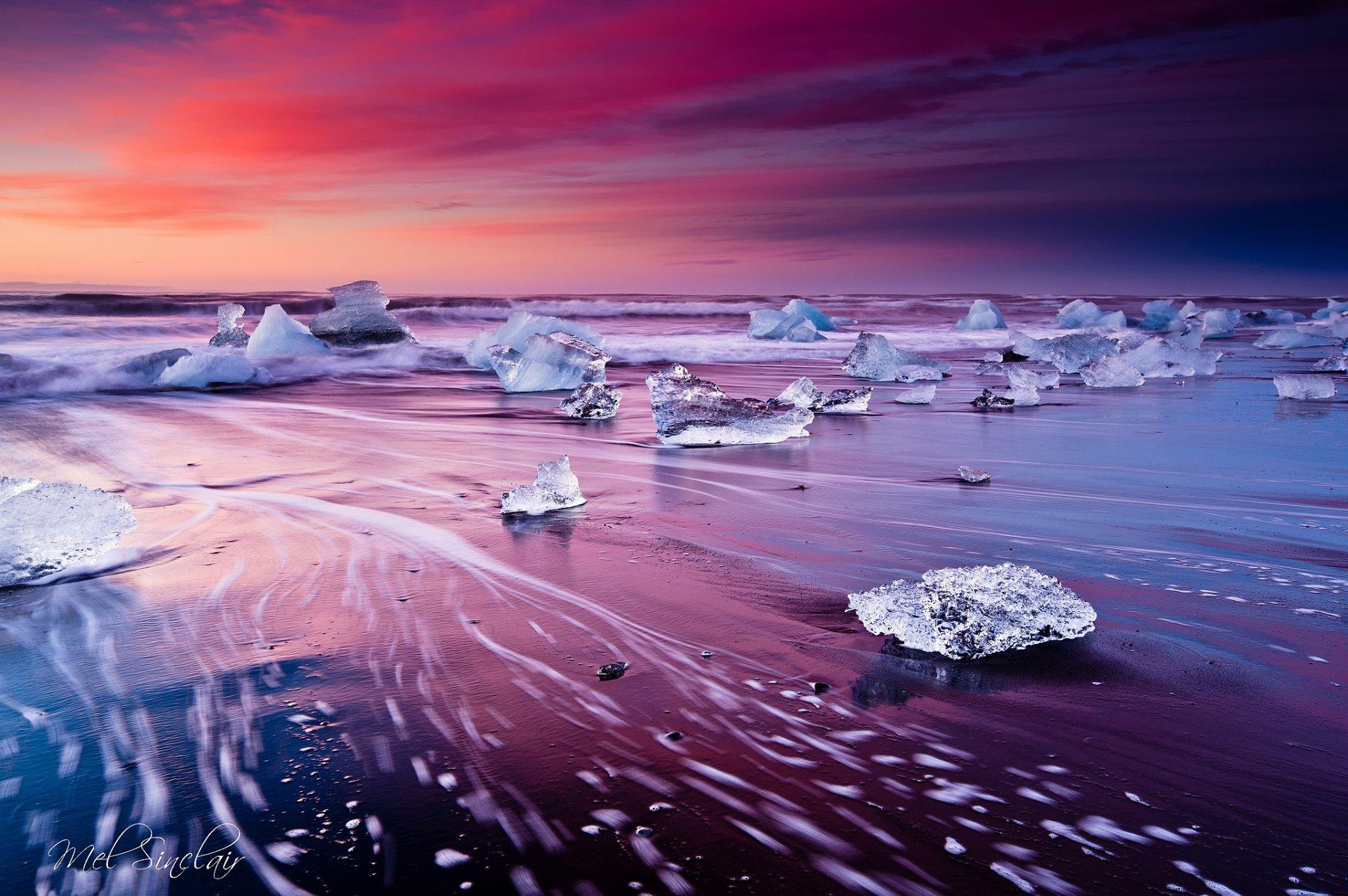 Обои ледниковая лагуна йёкюльсаурлоун, Исландия. Природа foto 10