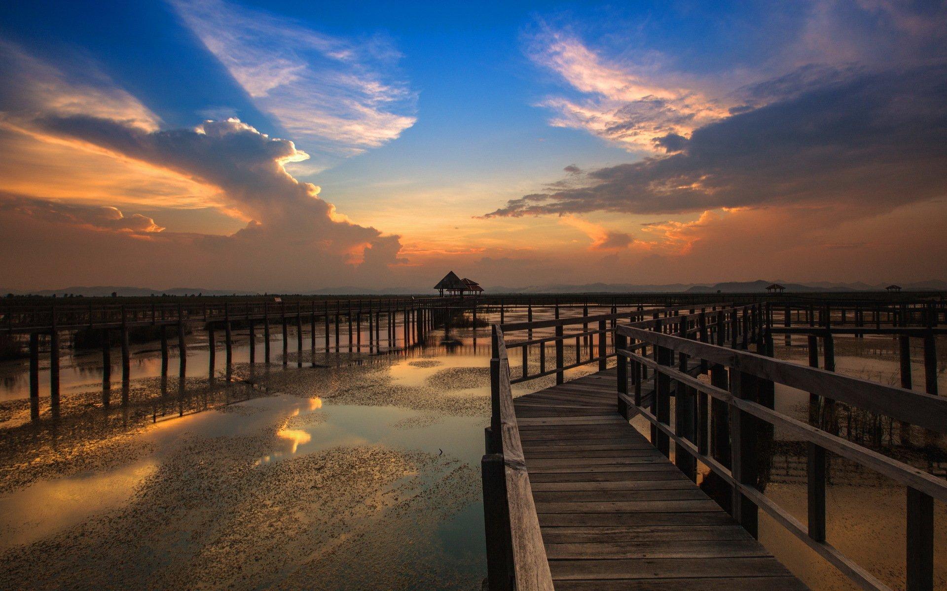 природа море мост  № 70174 бесплатно