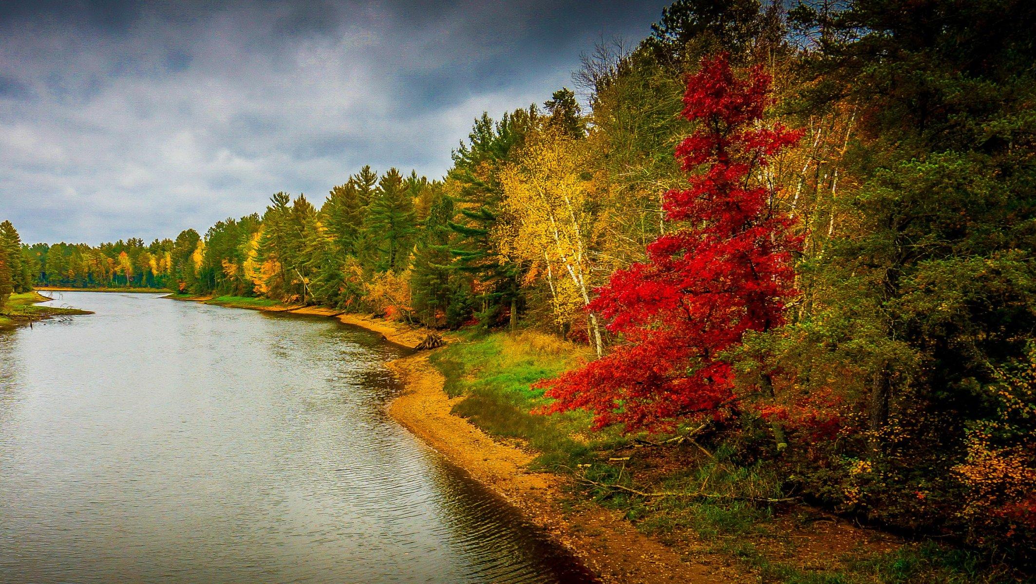 Реки осенью фото