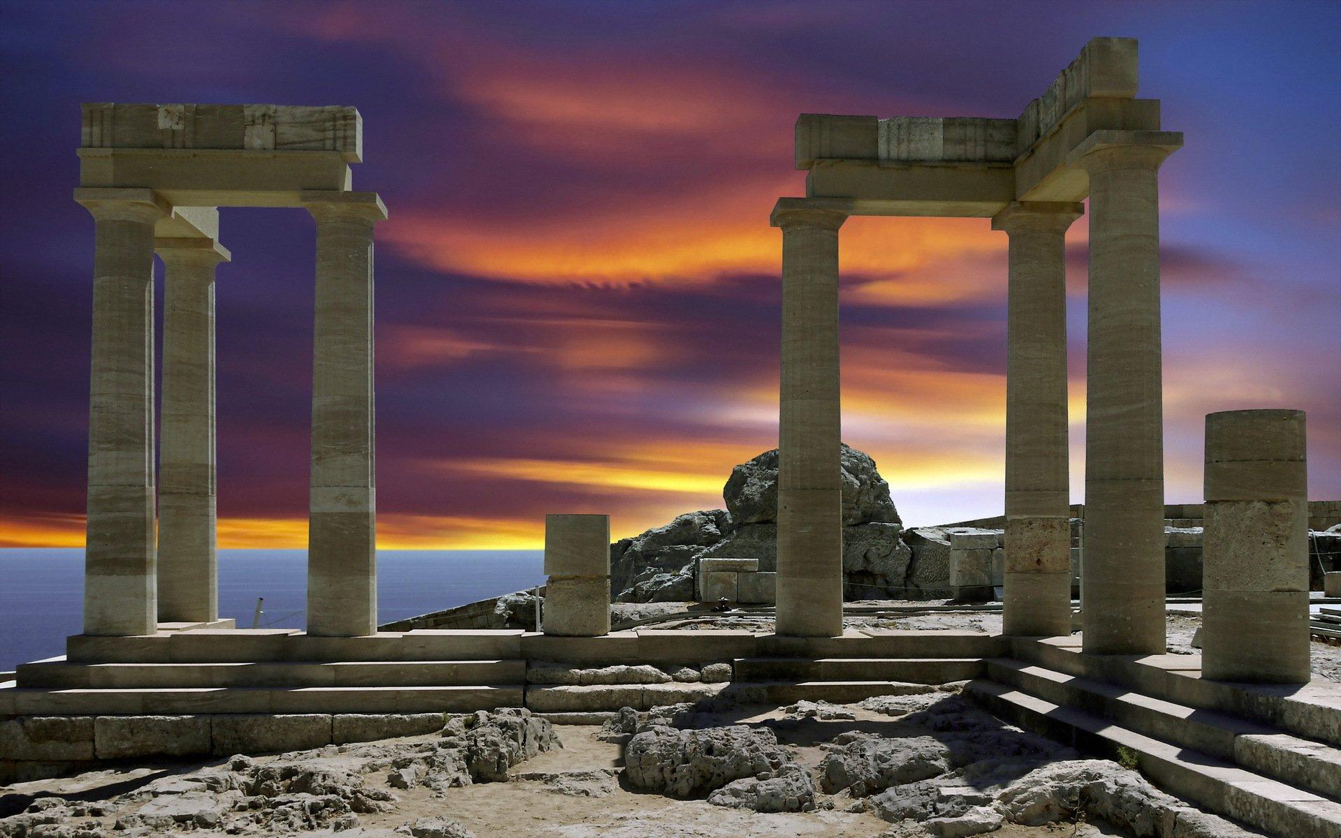 дают обои на тему древней греции менее