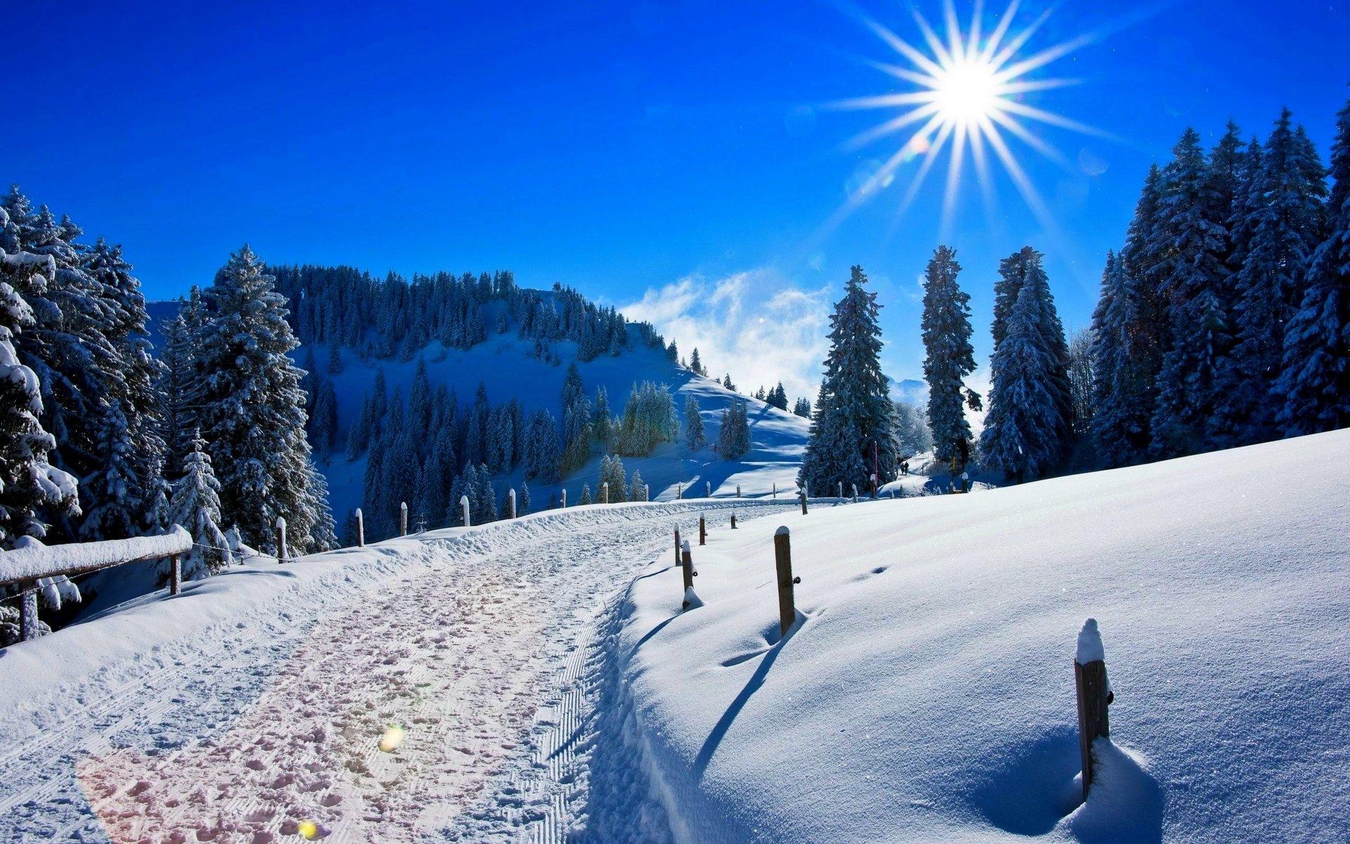 Красивые картинки с пейзажами зимы