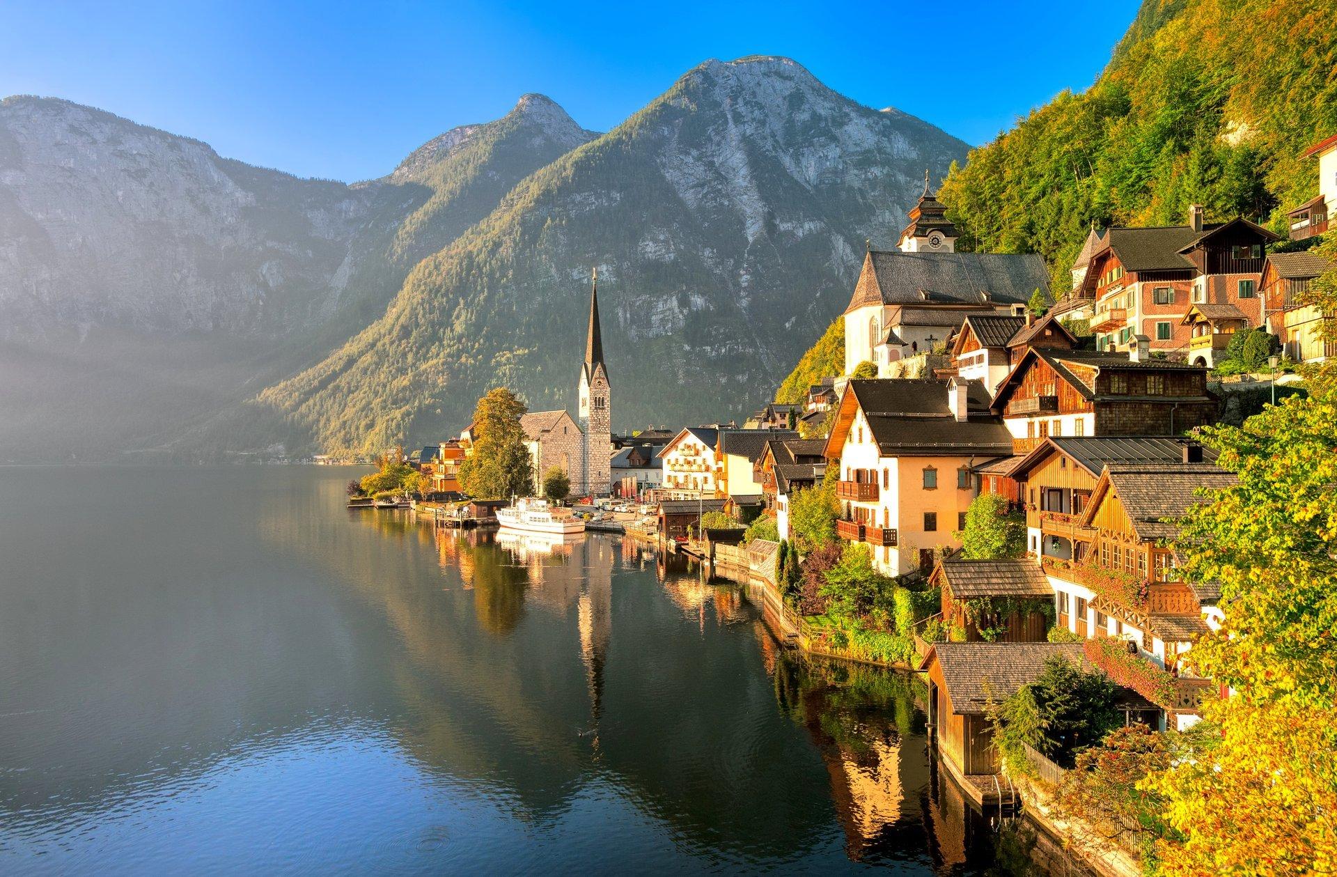 Обои альпы, городок, дома, деревня. Города foto 15