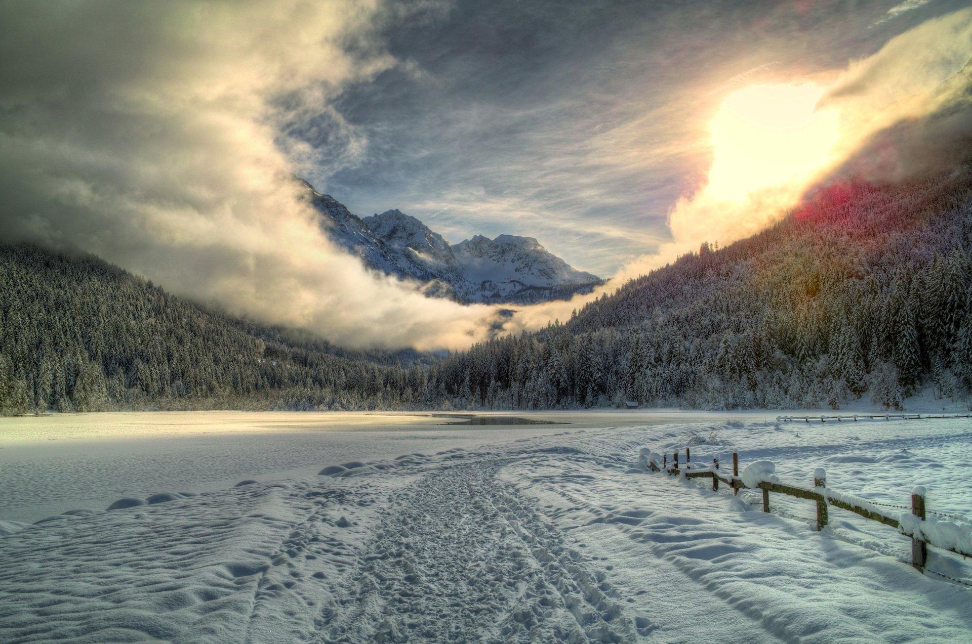 горы лето снег бесплатно