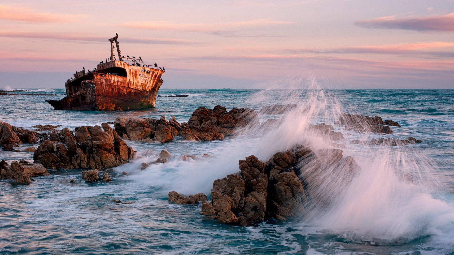 каждым картинка корабль море скалы этого