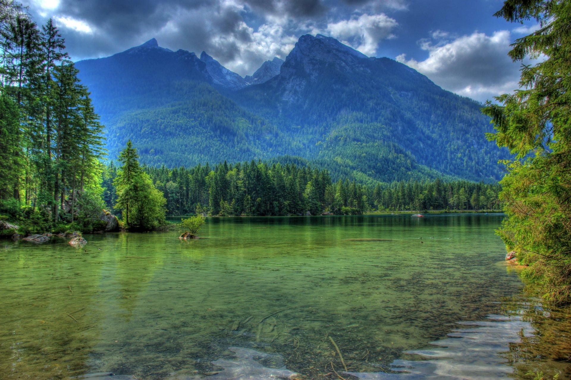 Обои Облака, бавария, германия, горы, природа, свет. Природа foto 7