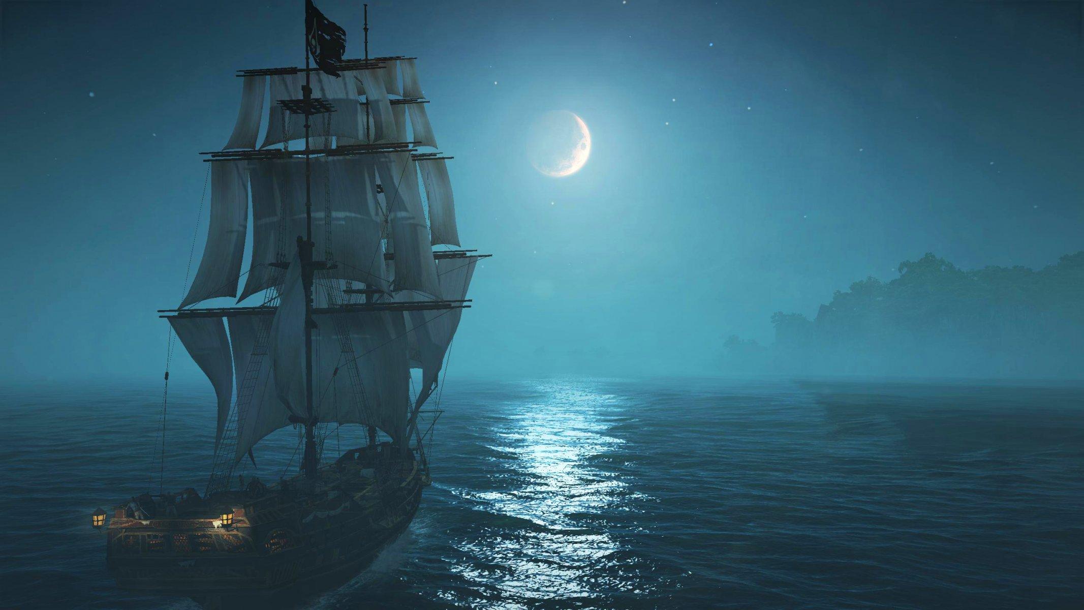 корабль паруса небо море бесплатно