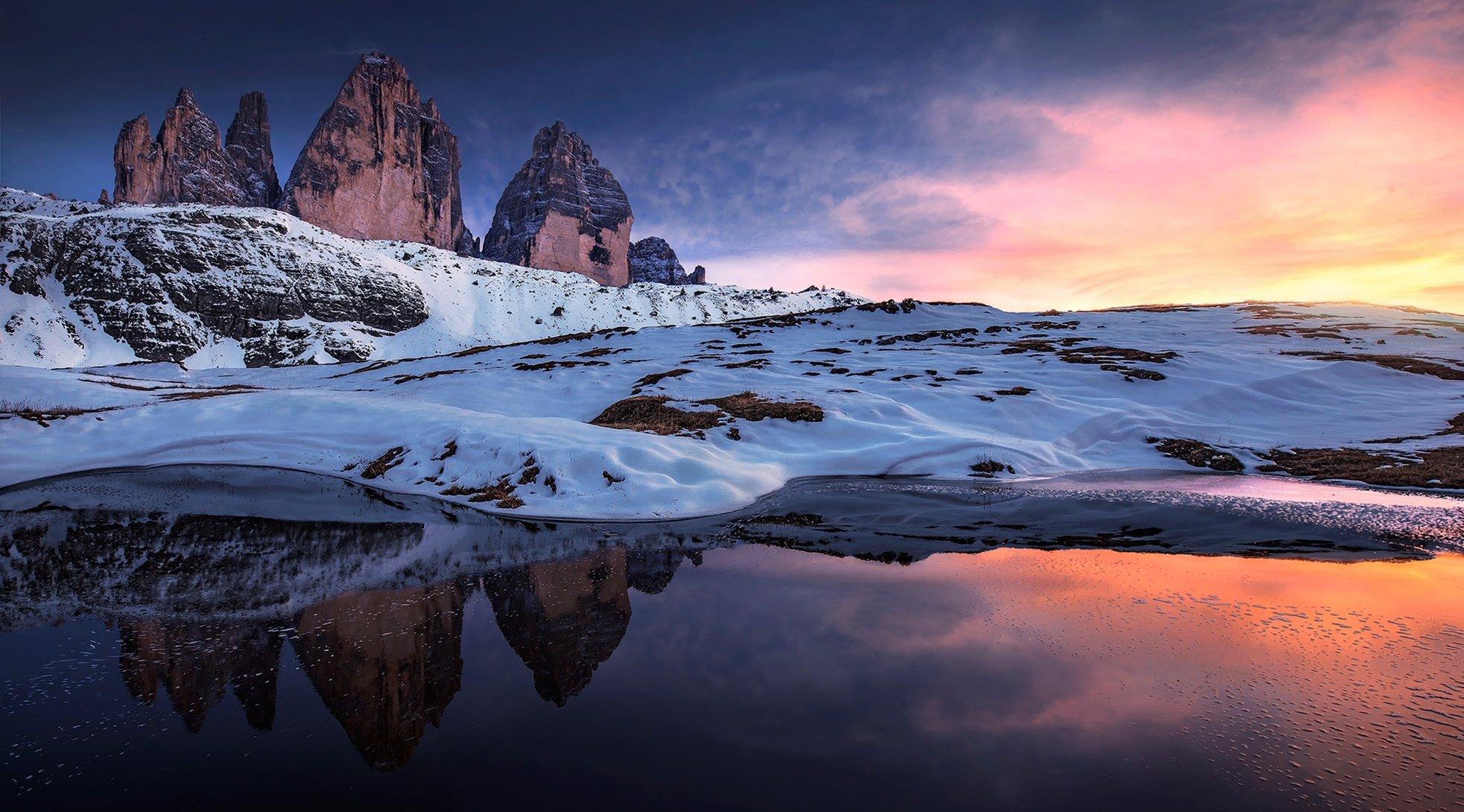 природа скалы горы снег nature rock mountains snow без смс