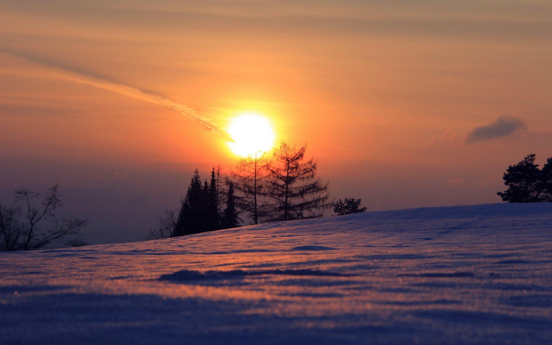 закат над снежной степью  № 831916 загрузить
