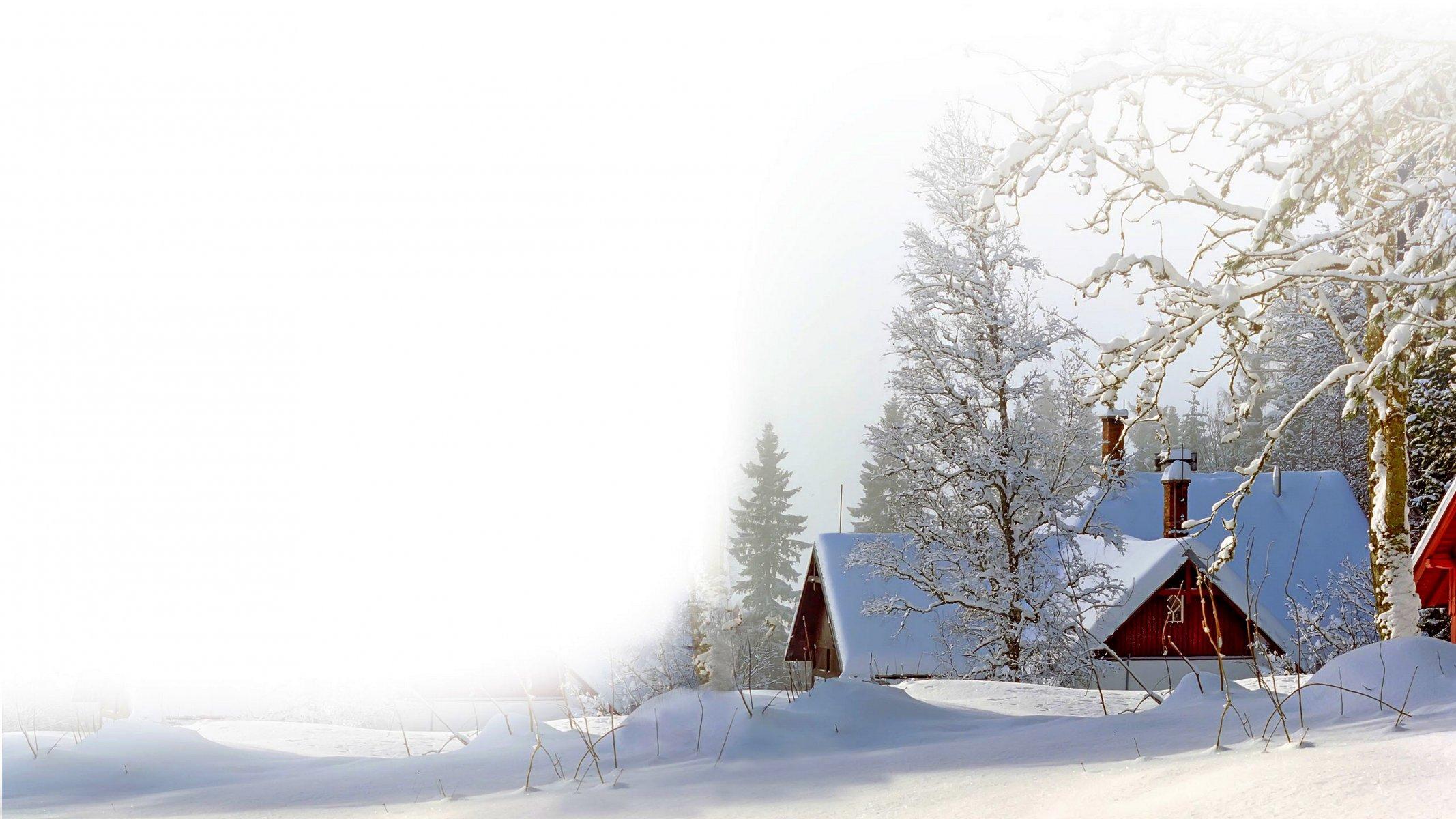 фотофон зимняя деревня